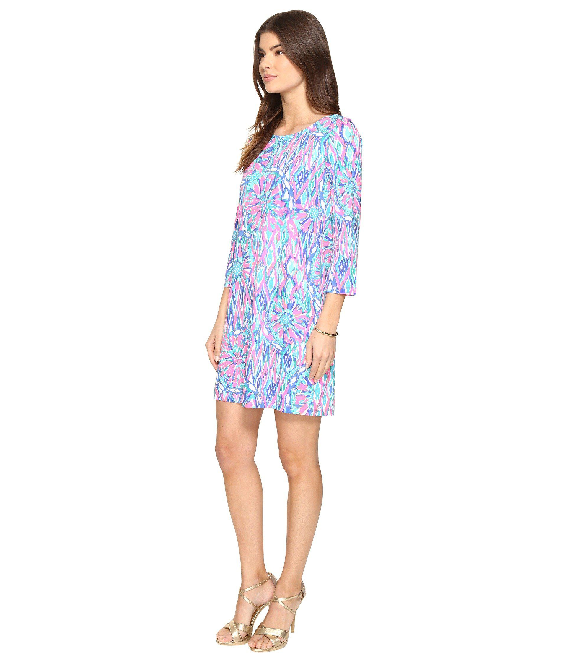d7e85c1b402 Lilly Pulitzer Bay Dress in Blue - Lyst