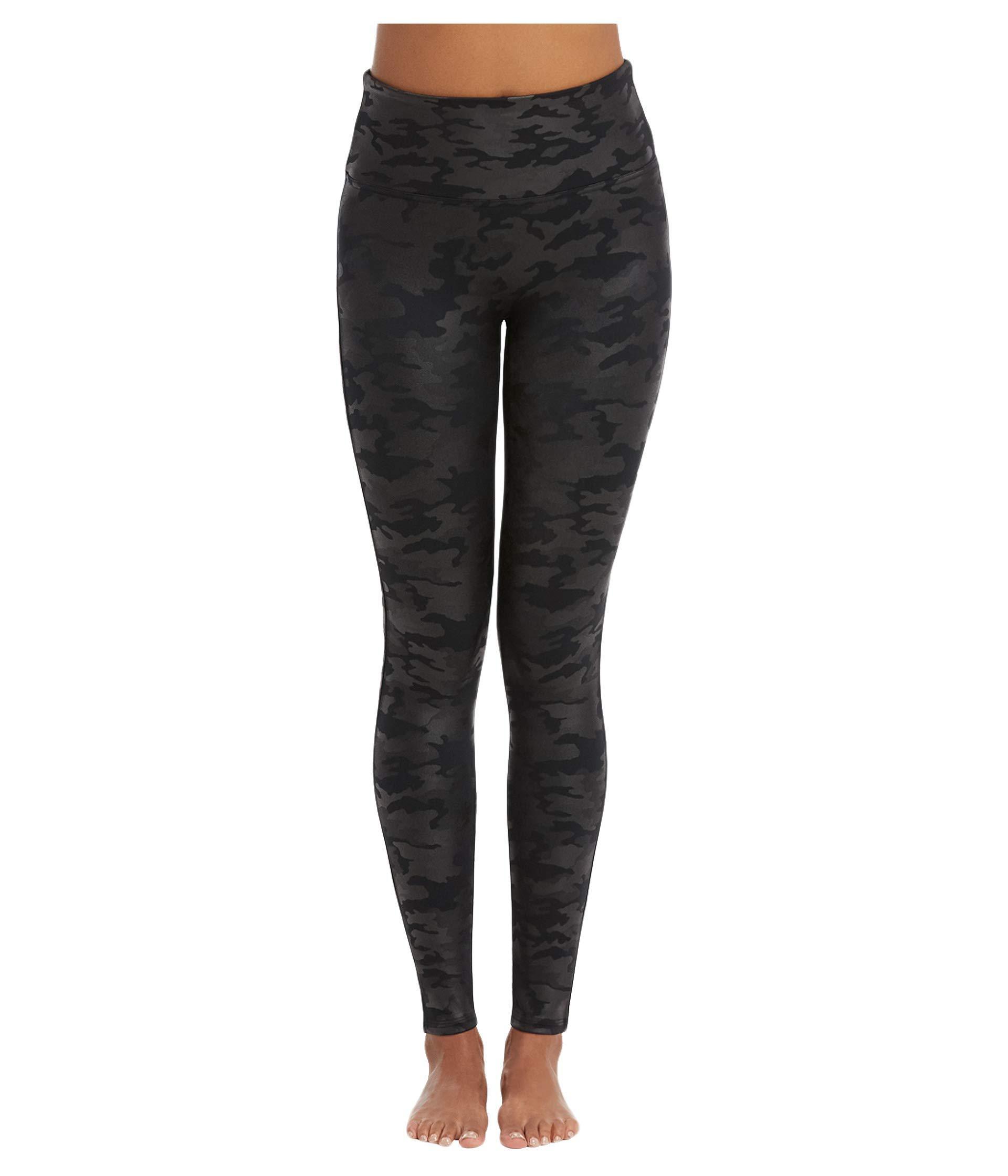 eafc358a1a7ff Spanx. Faux Leather Camo Leggings (matte Black Camo) Women's Casual Pants