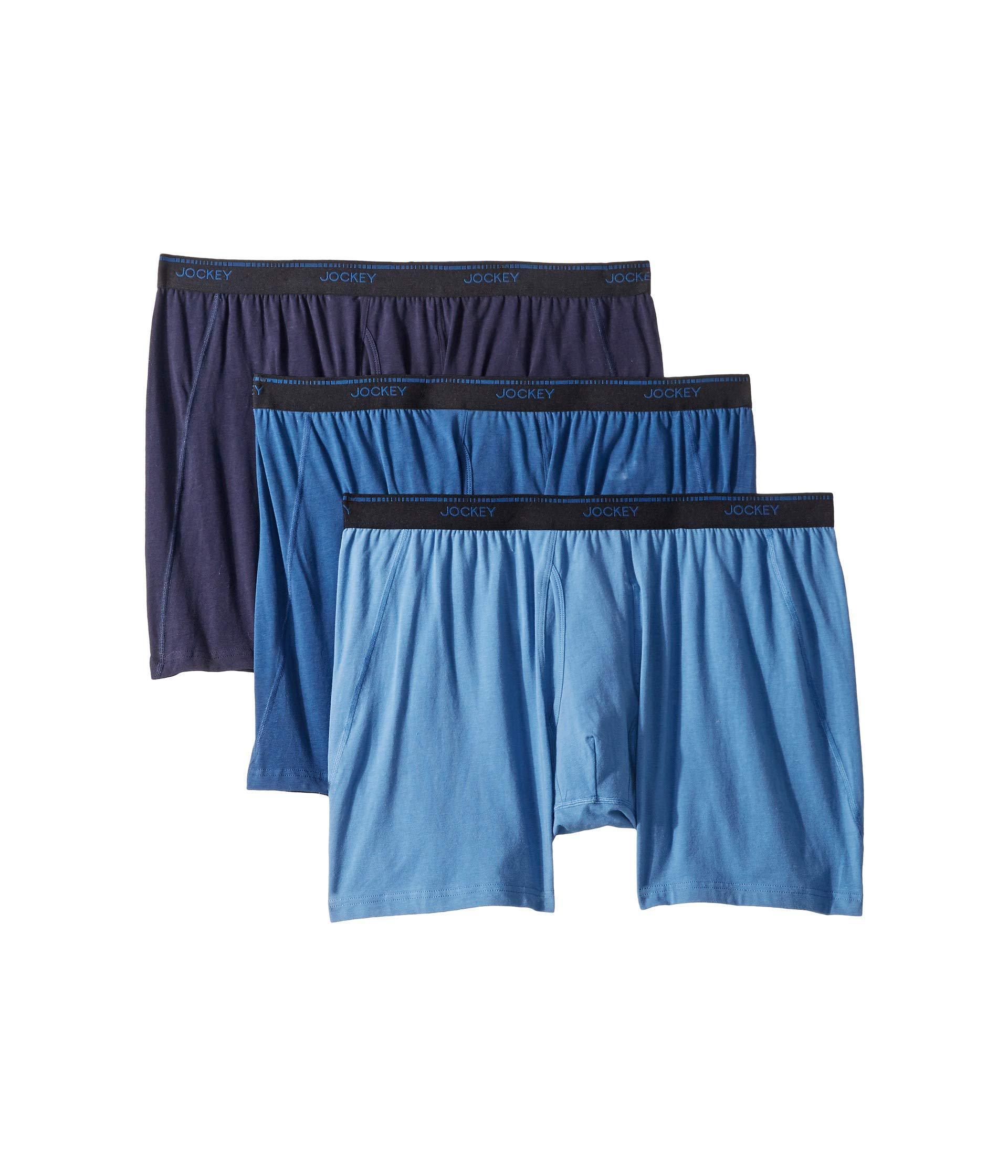 40afd62a3dea Jockey - Blue Essential Fit Max Stretch Midway Brief 3-pack (black) Men's.  View fullscreen