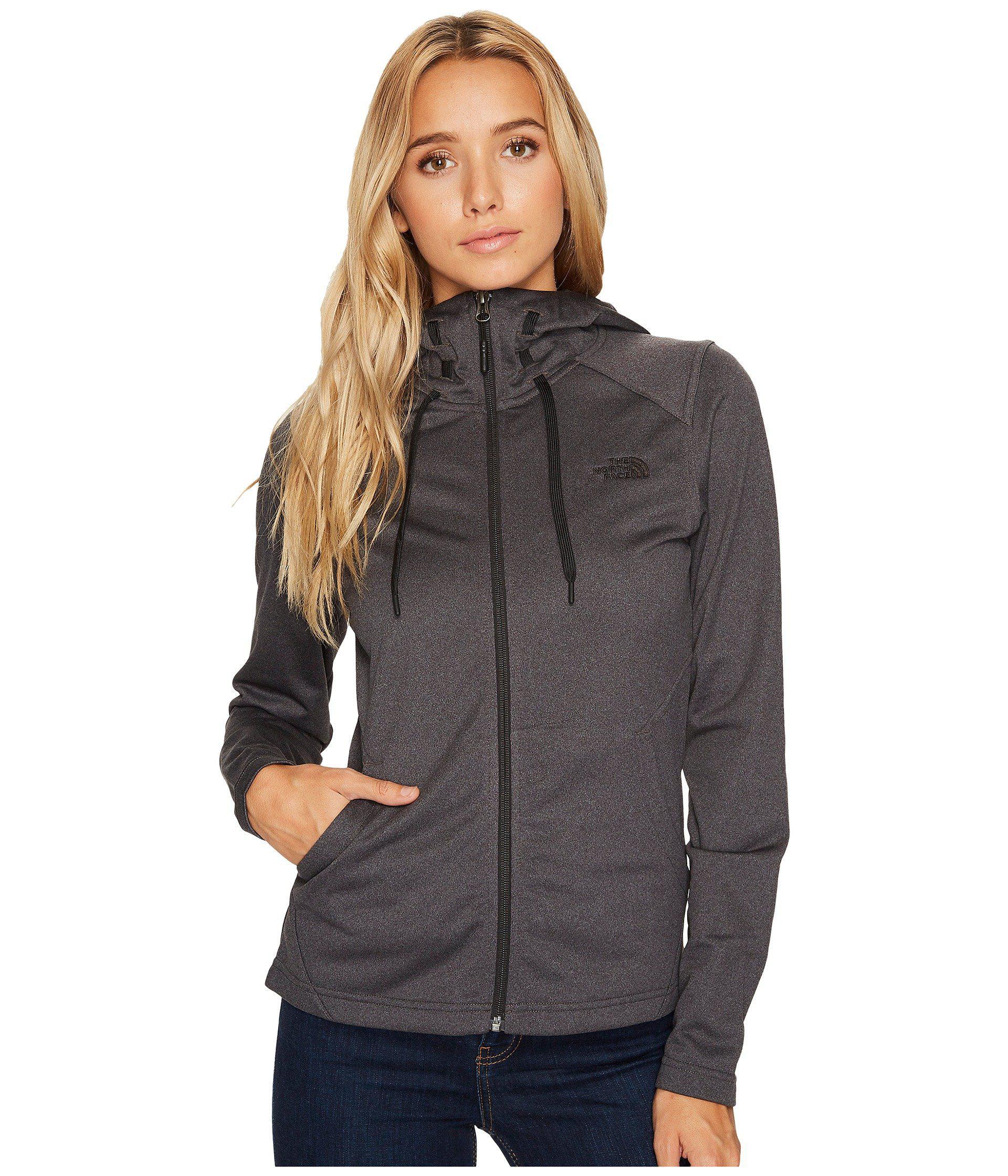753305773 The North Face Gray Tech Mezzaluna Hoodie (tnf Black) Women's Sweatshirt