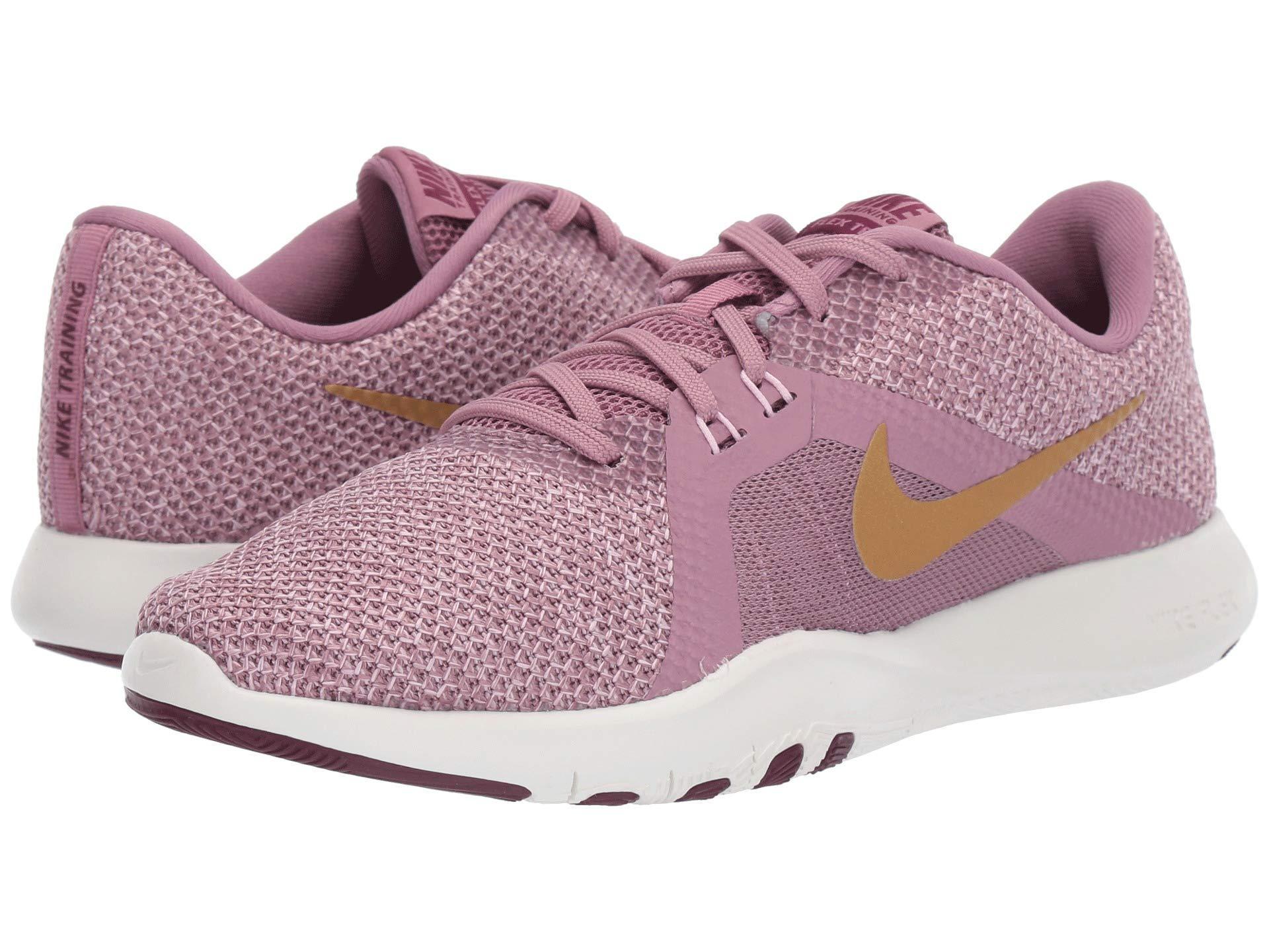a6c178689b2f Nike. Flex Trainer 8 Amp (plum Dust metallic Element Gold pink Foam) Women s  Cross Training Shoes