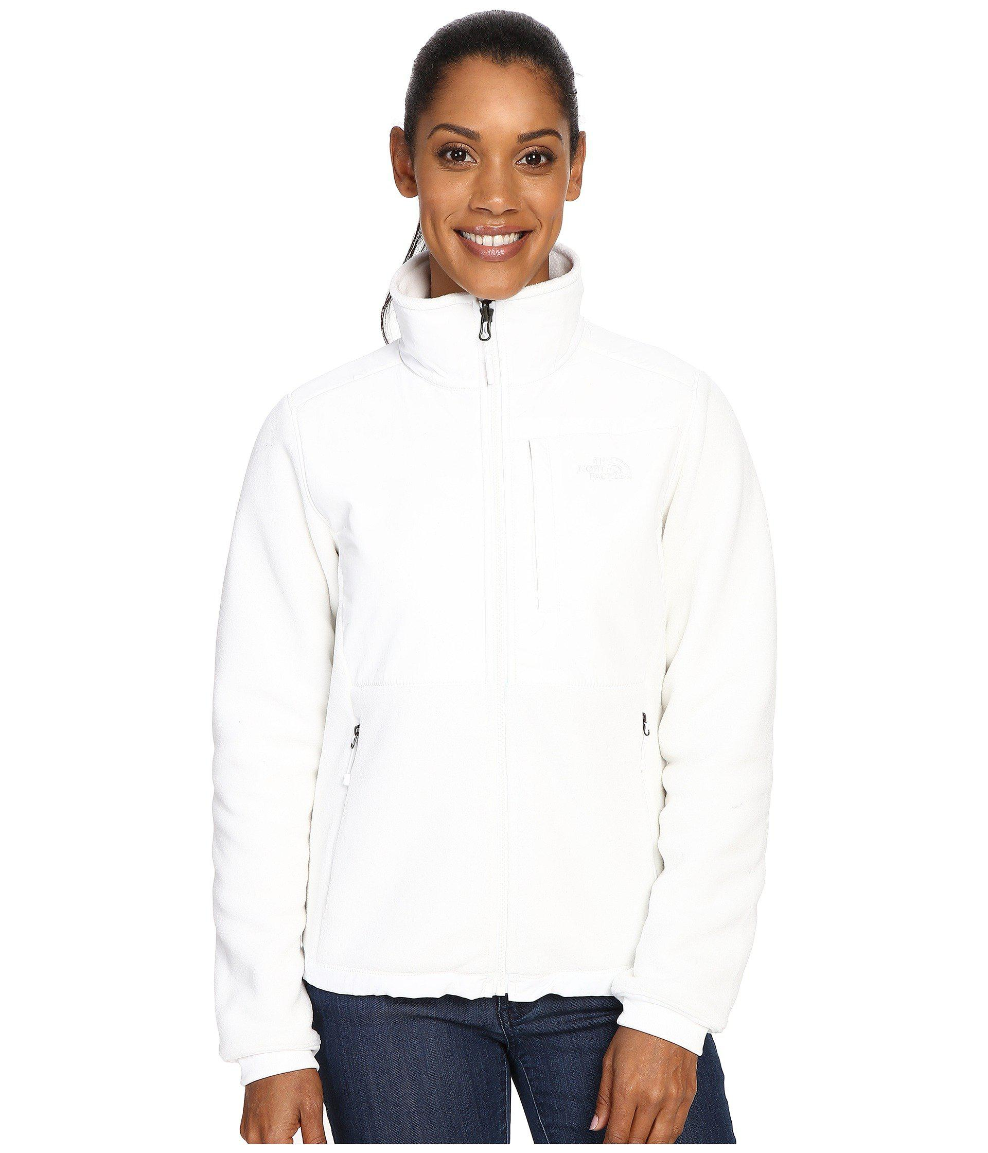 bbe2701ab The North Face White Denali 2 Jacket (tnf Medium Grey Heather/tnf Black)  Women's Coat