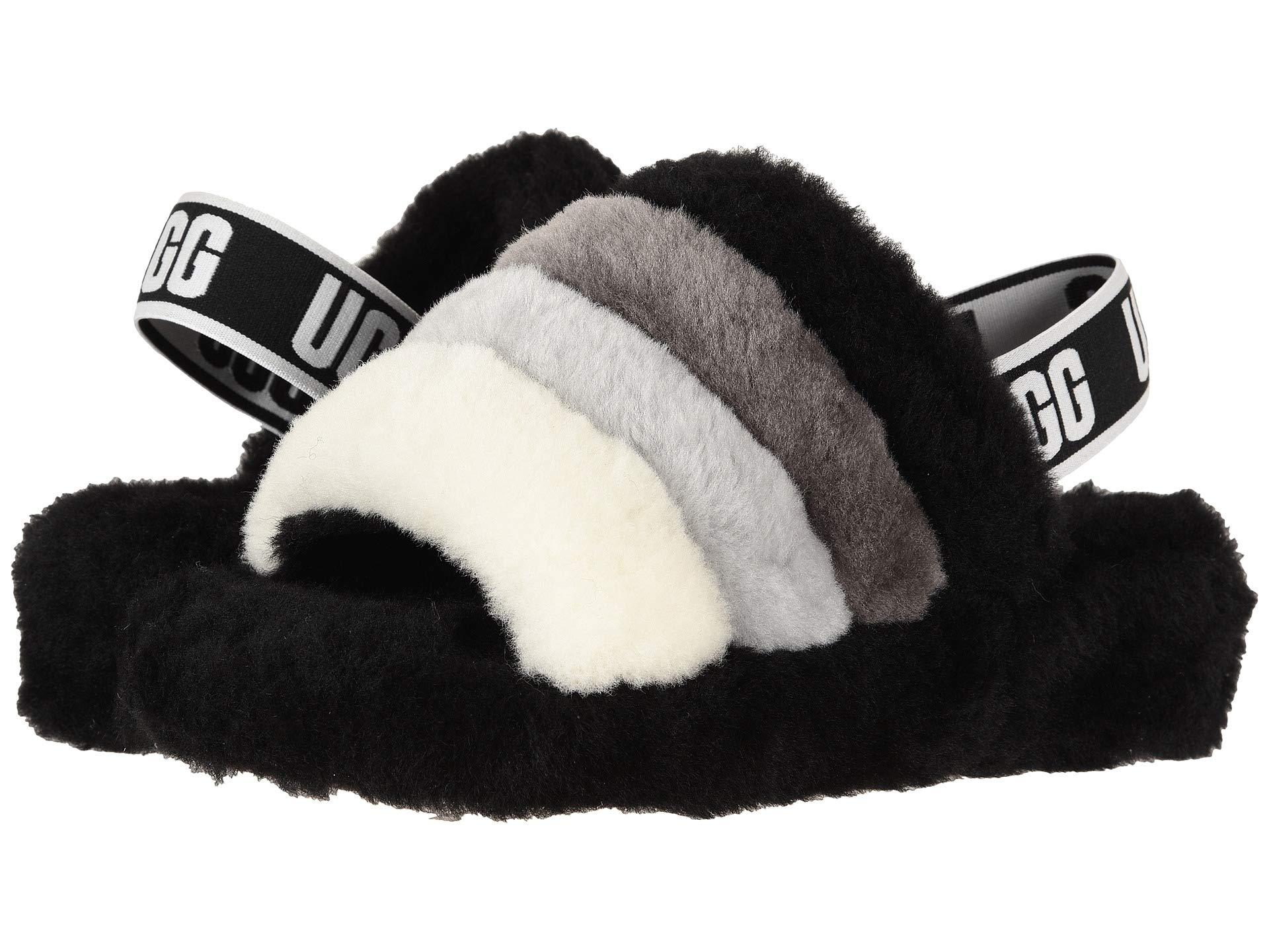 87dae2ec40c Ugg Black Fluff Yeah Slide (pink Dawn) Women's Slippers