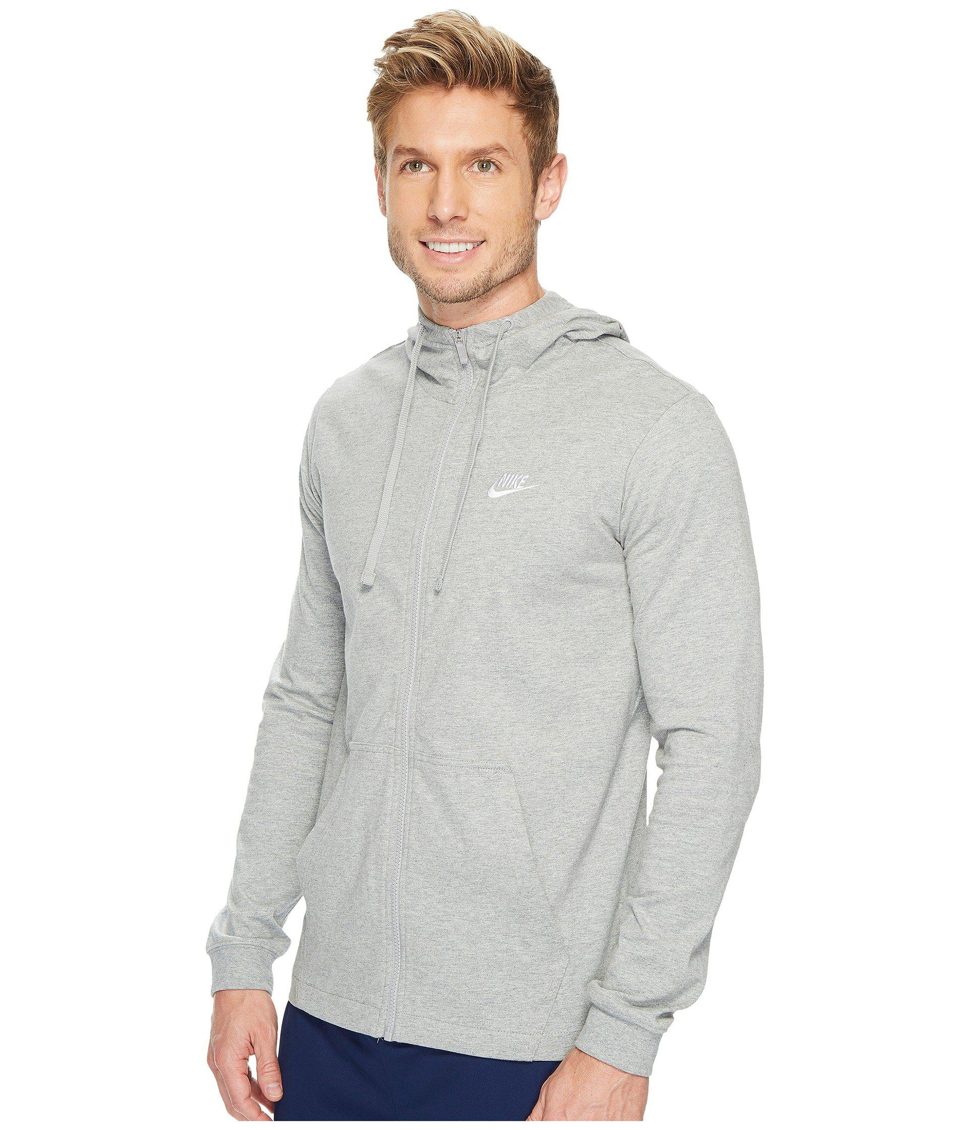 022b8ecc Lyst - Nike Sportswear Full-zip Hoodie (black/white) Men's Sweatshirt in  Gray for Men