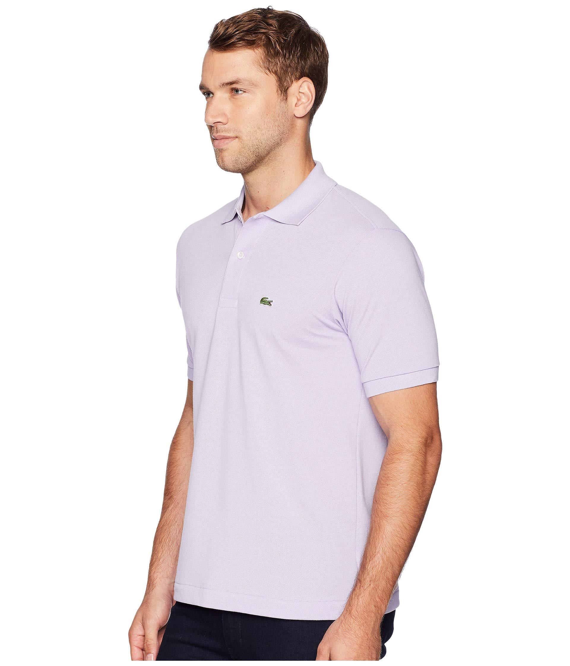 21893f92 Lyst - Lacoste Short Sleeve Classic Pique Polo Shirt (ibiza) Men's Short  Sleeve Pullover in Purple for Men