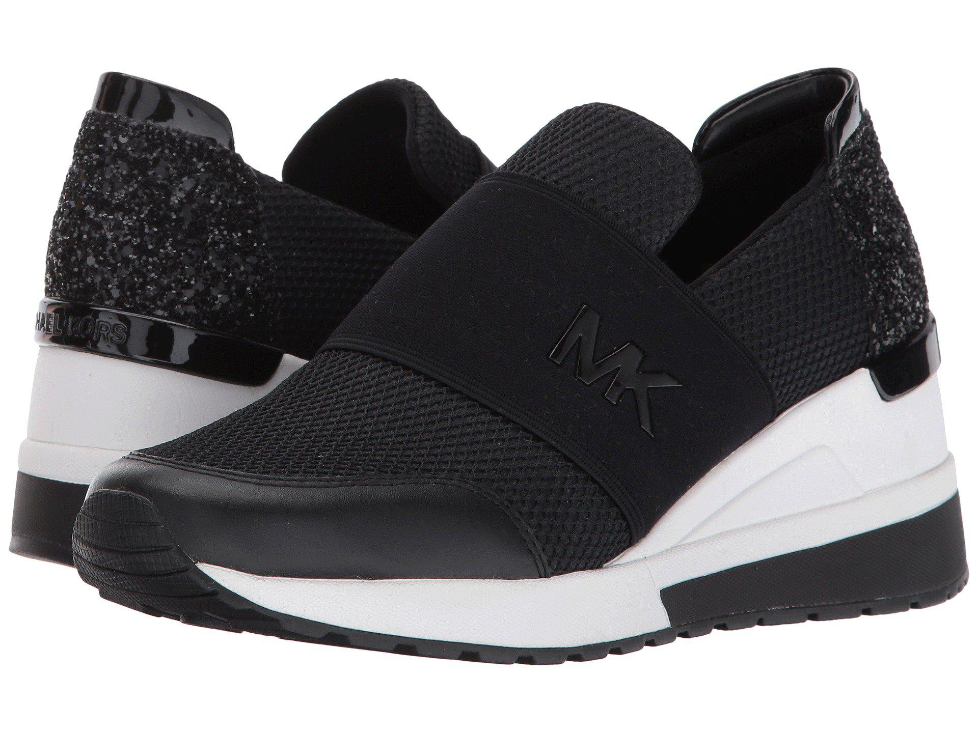 Michael Michael Kors Leather Felix Trainer In Black Save