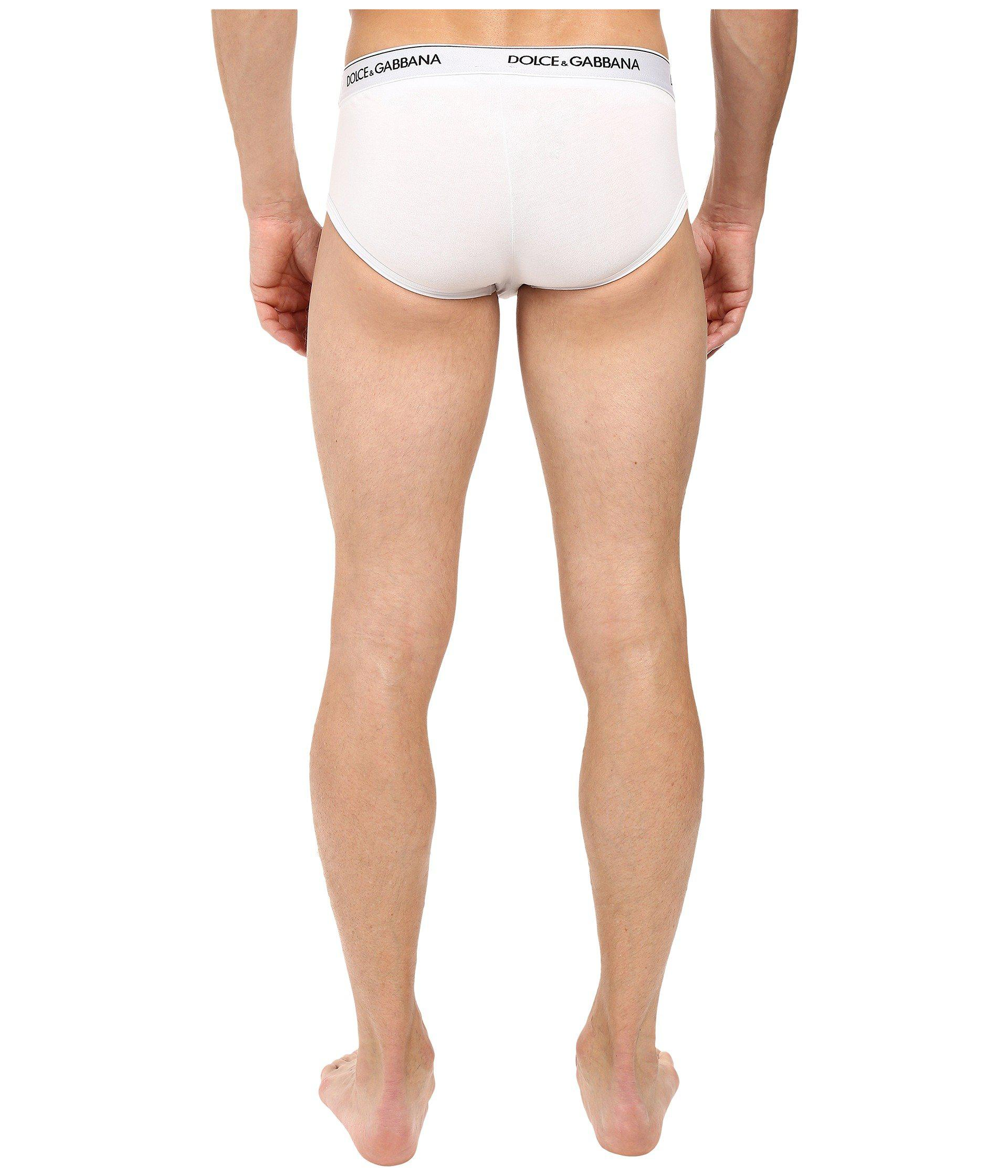 Dolce /& Gabbana Day by Day Bi-Pack Mens Boxer Trunks in White