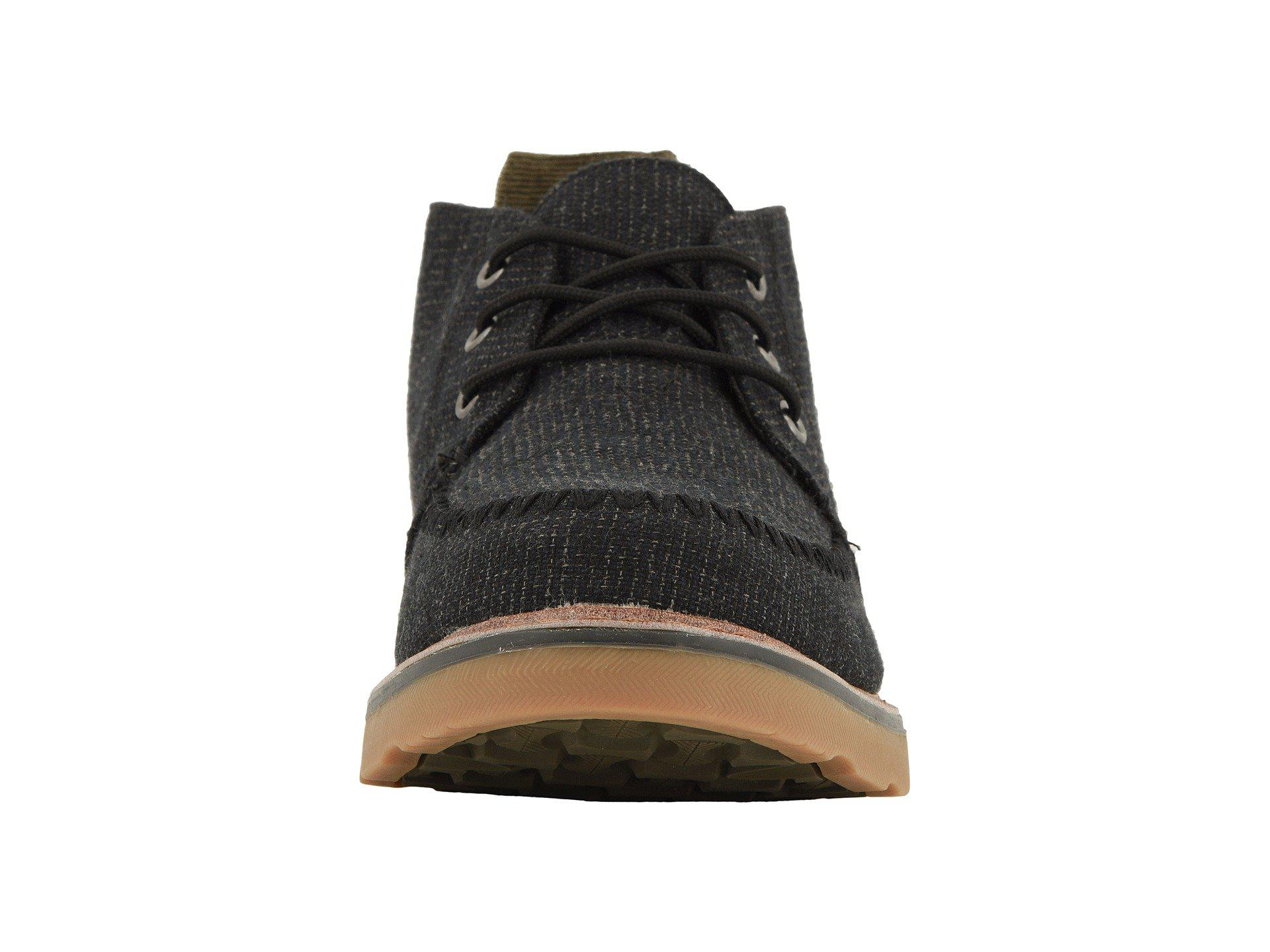 453011db211 Lyst - TOMS Chukka (black Melange Woven) Men s Lace Up Casual Shoes ...