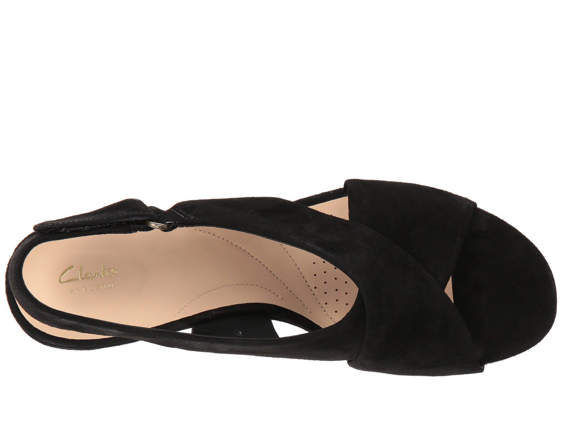 4ffa5cc35a0 Clarks - Maritsa Lara (black Leather) Women s Wedge Shoes - Lyst. View  fullscreen