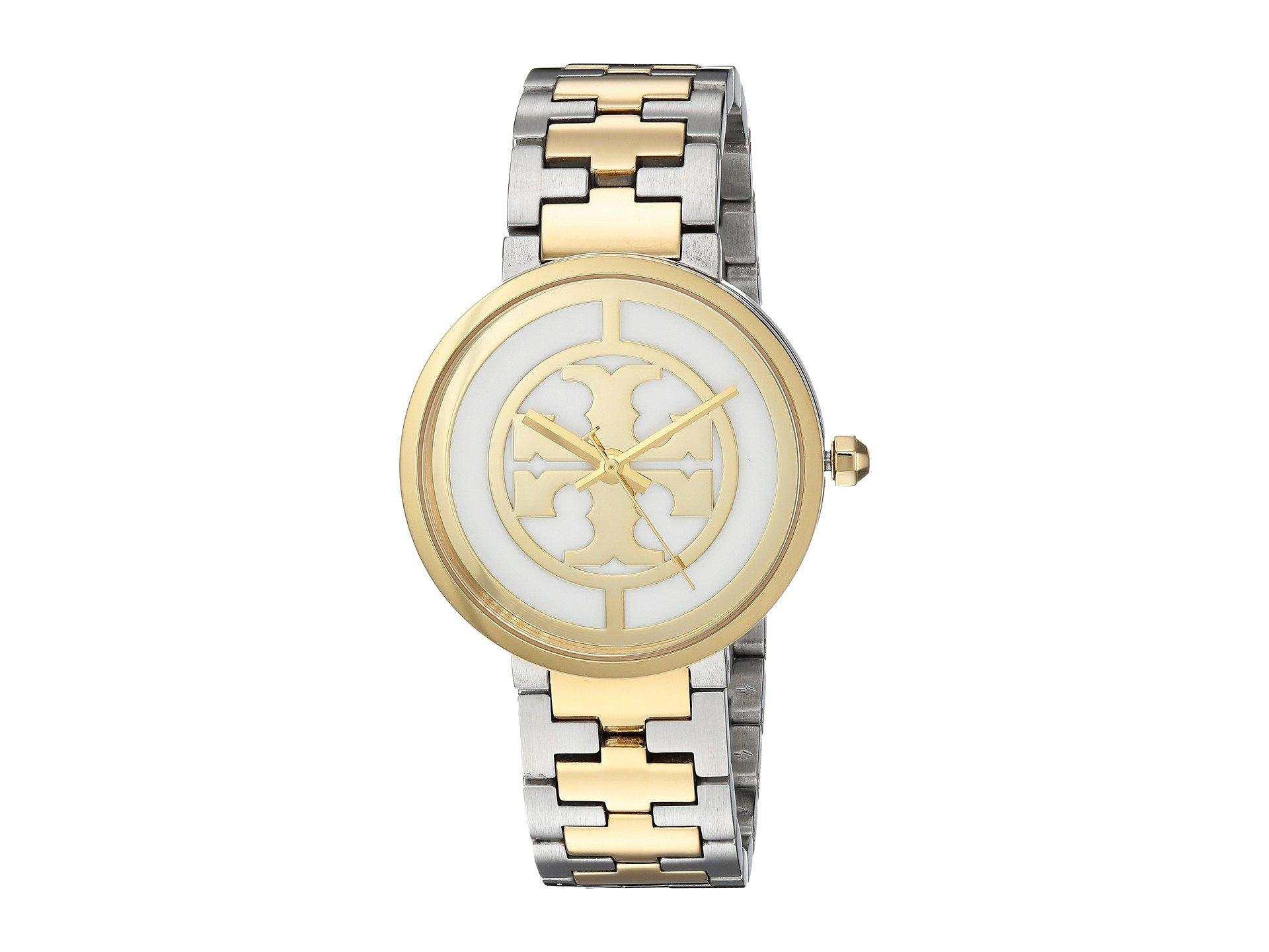 fdd981120bf Lyst - Tory Burch Reva - Tbw4027 (two-tone Silver gold) Watches in ...