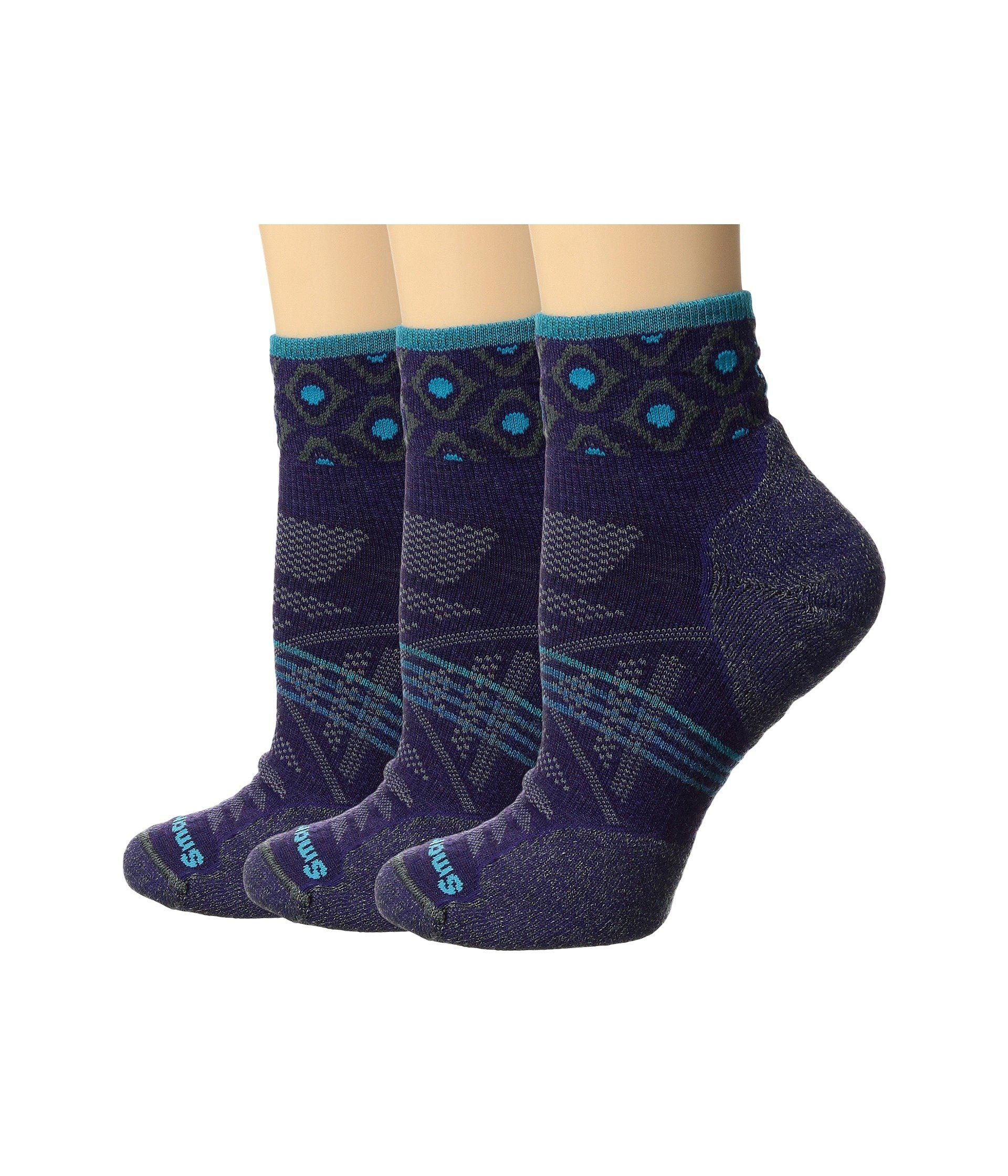 Smartwool phd outdoor light mini pattern 3 pack in blue lyst smartwool womens blue phd outdoor light mini aloadofball Image collections