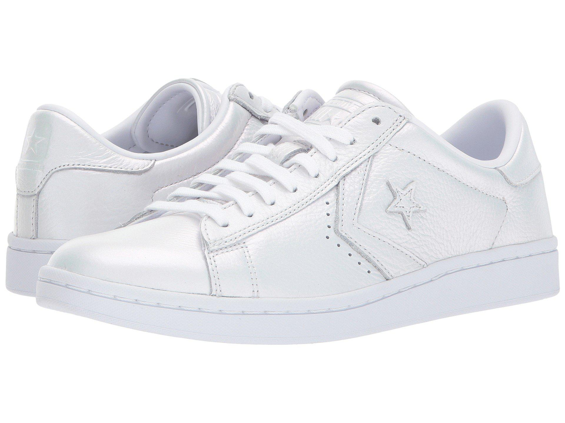 52a836aacce7 Lyst - Converse Pro Leather Lp Iridescent Leather Ox in White