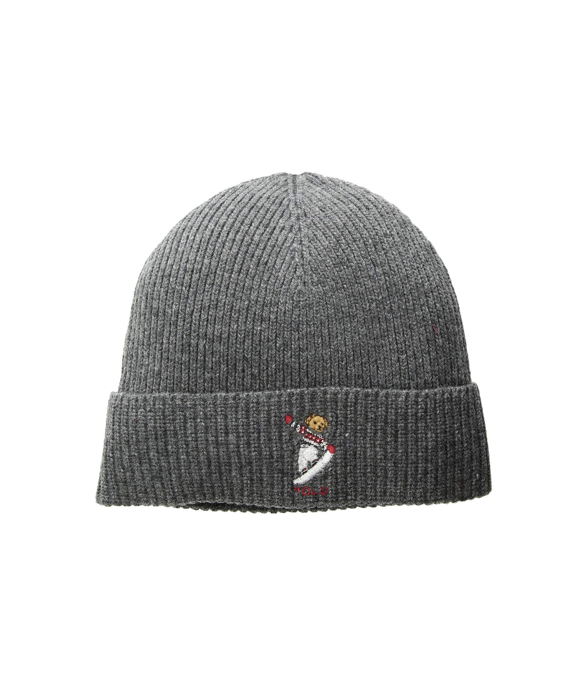 dba7c81c566 Lyst - Polo Ralph Lauren Skate Bear Hat (charcoal) Beanies in Gray ...
