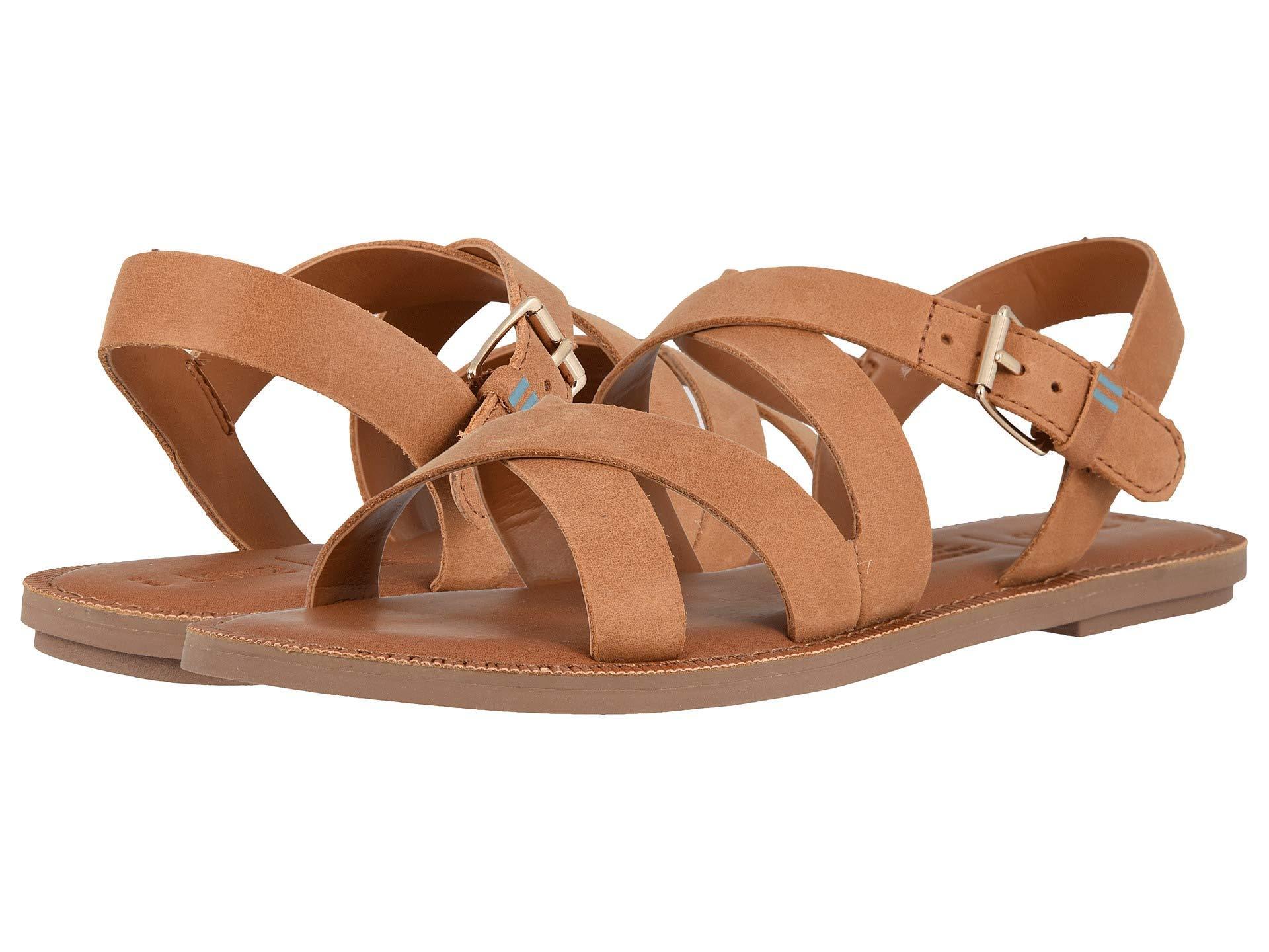 e7fb57cb1ce TOMS - Brown Sicily (black Leather) Women s Sandals - Lyst. View fullscreen