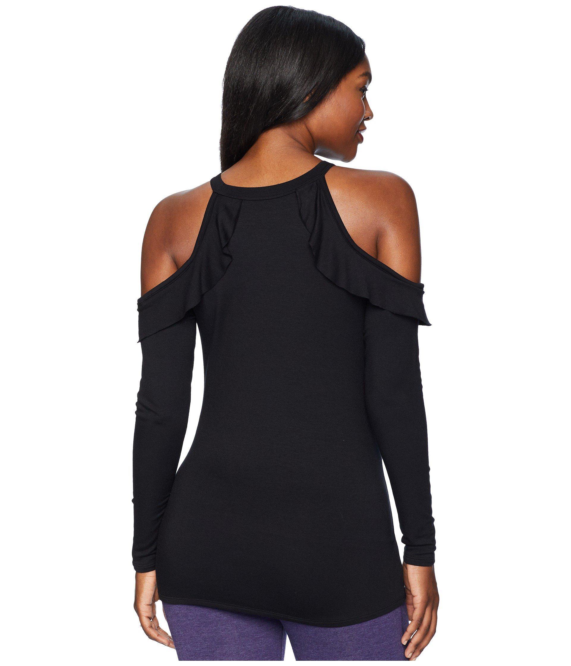 d8280d5f4bb6d4 Lyst - Beyond Yoga Maternity Frill Seeker Pullover (black) Women s ...