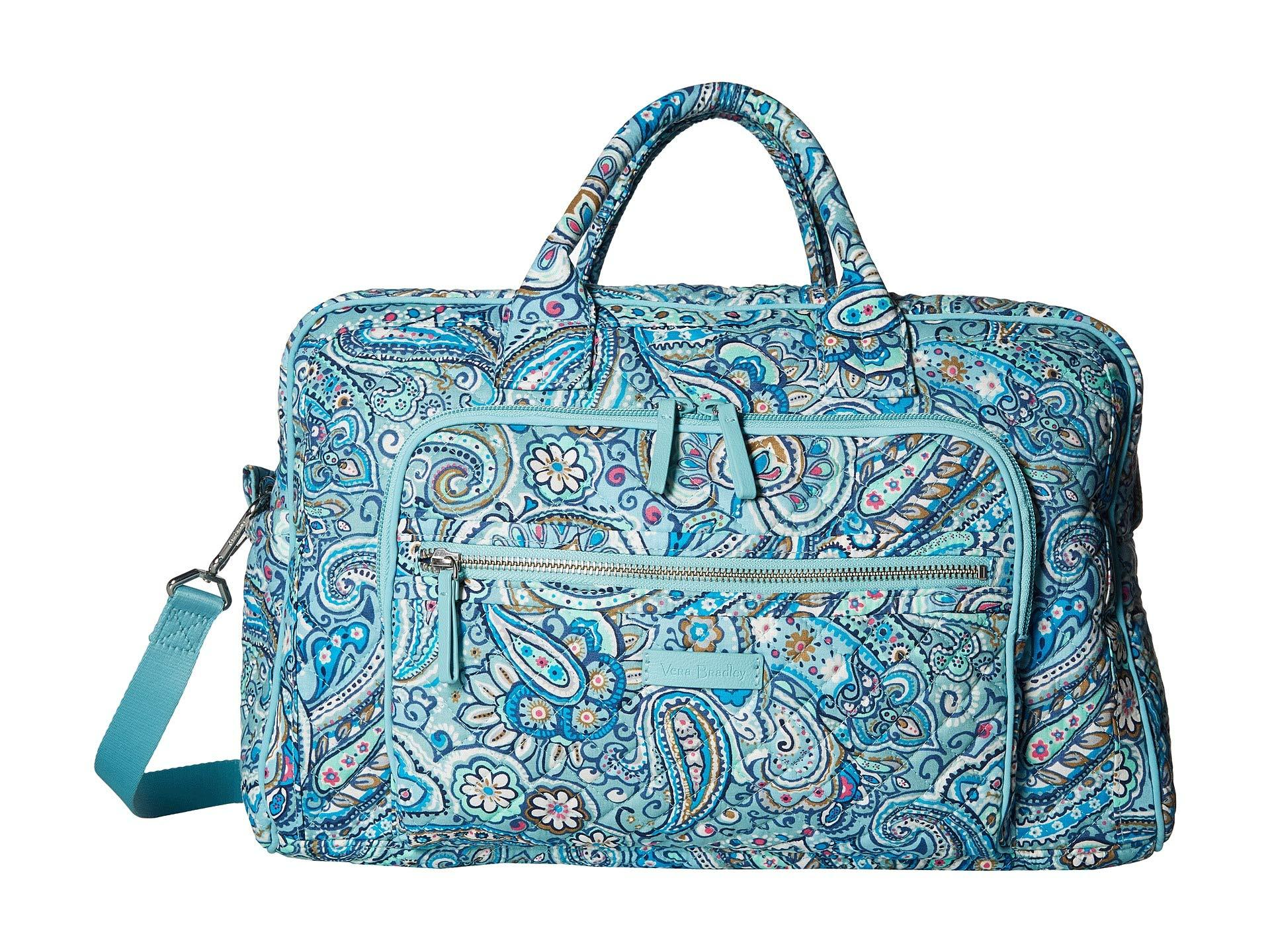 Iconic Compact Weekender Travel Bag Signature Cotton