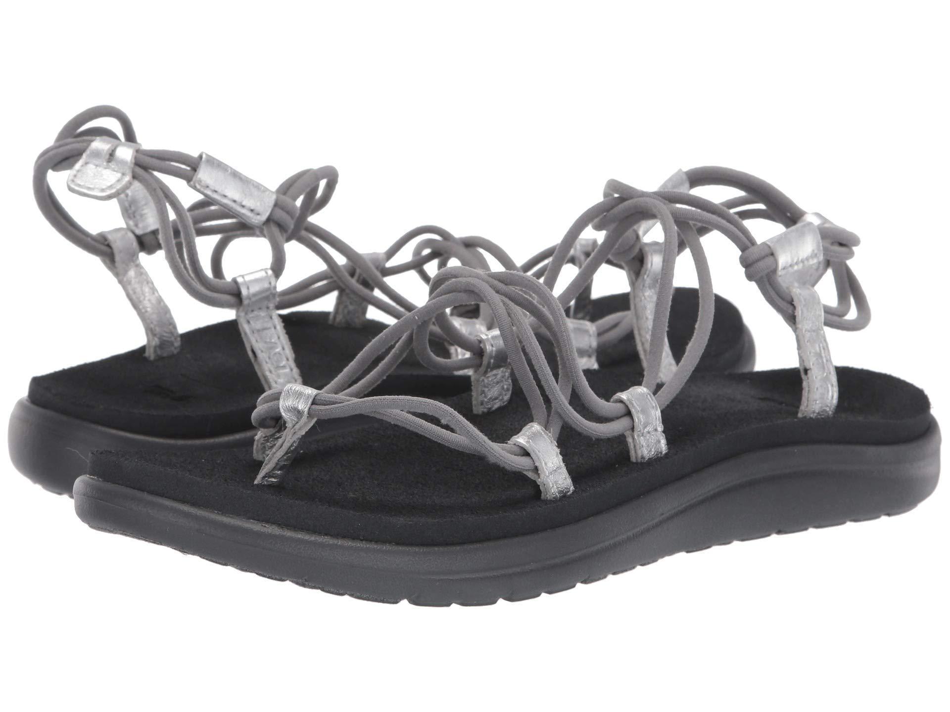 866e5c92b0b9 Lyst - Teva Voya Infinity Metallic (grey silver) Women s Shoes in ...