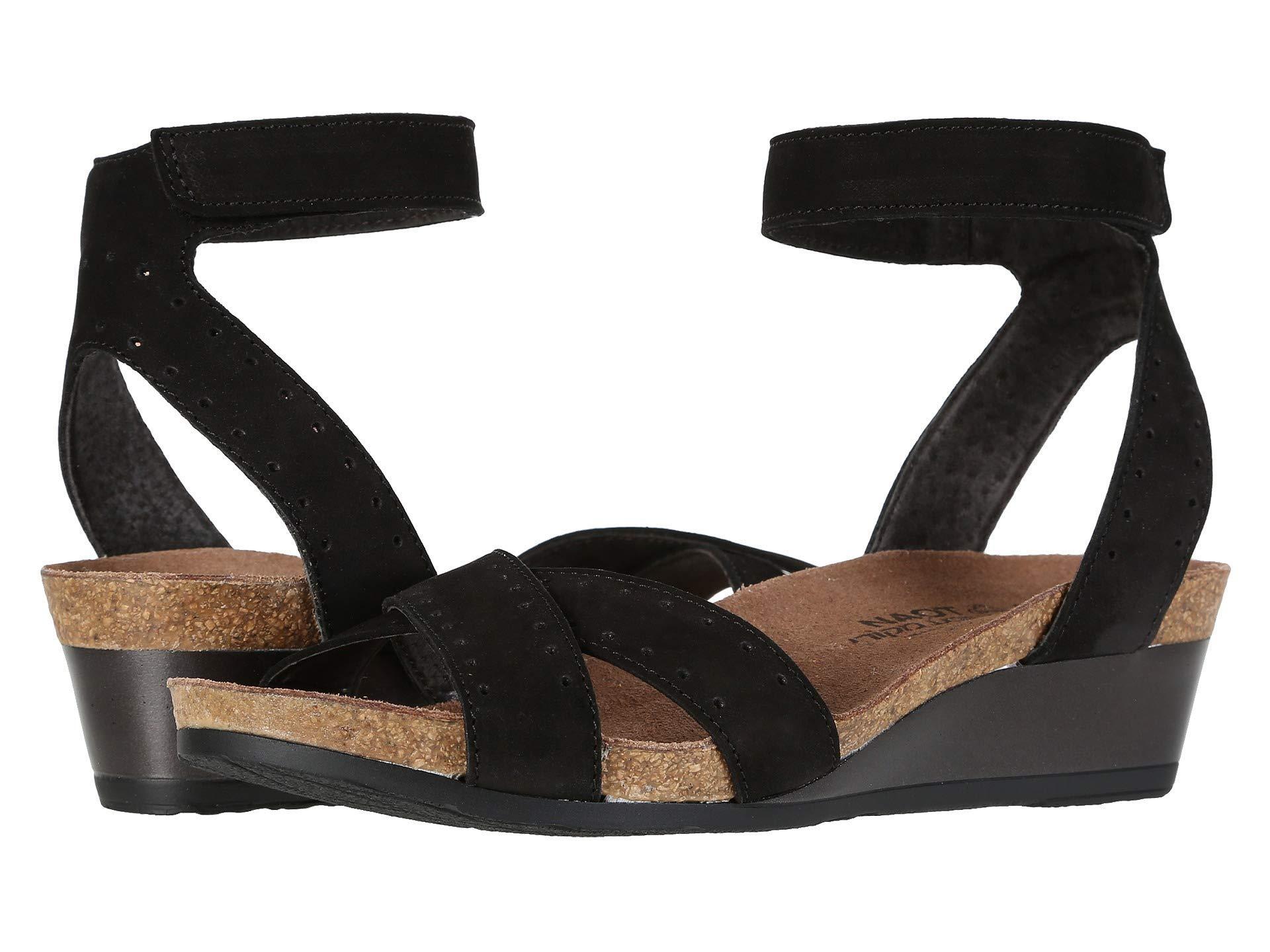 c335b0d7b556 Lyst - Naot Wand (navy Velvet Nubuck glass Brown) Women s Shoes in Black