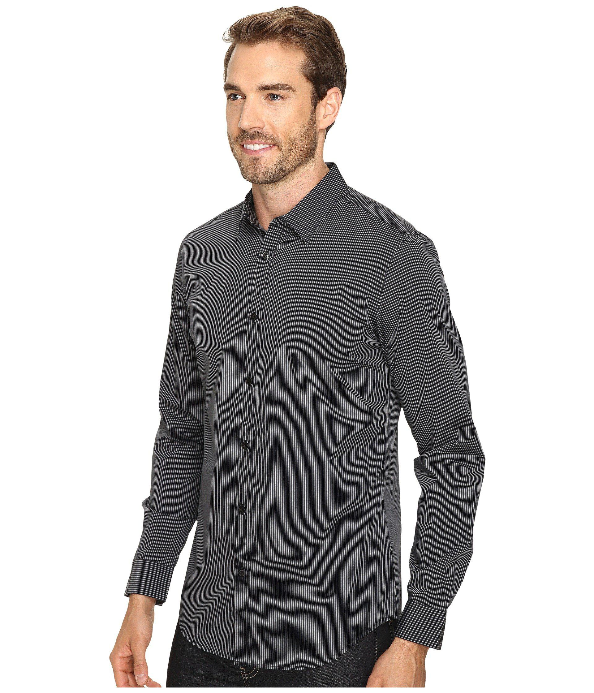 07c109da88 Mens Long Sleeve Black Button Down Shirt