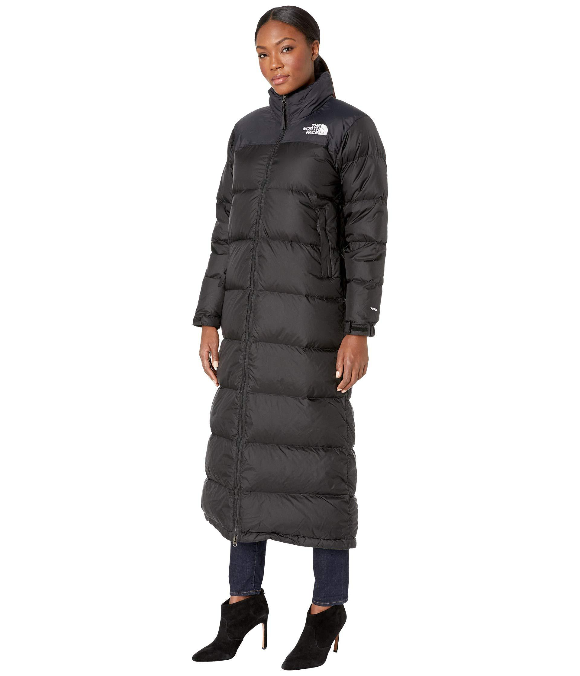 Lyst - The North Face Nuptse Duster (tnf Black) Women s Coat in Black -  Save 6% ba9ab518f