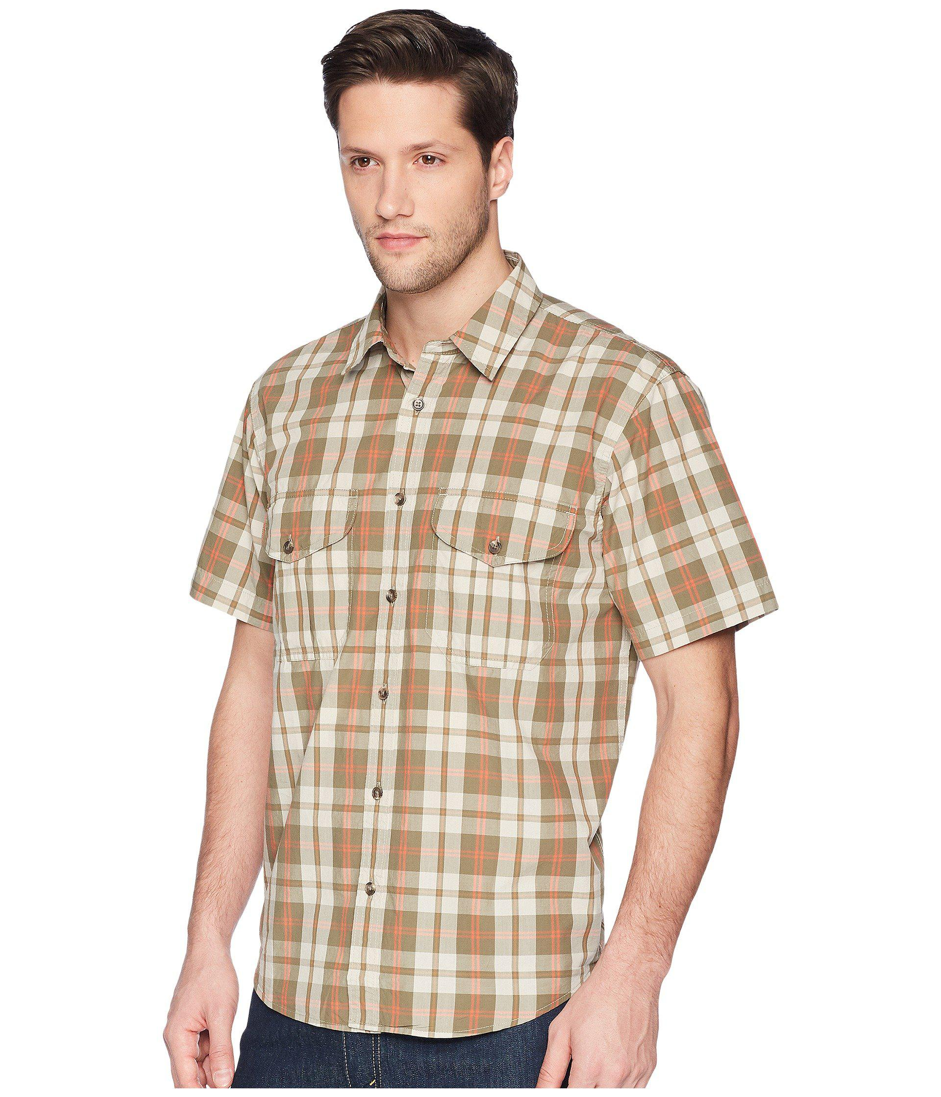 a930b2fae20c3 Lyst - Filson Short Sleeve Feather Cloth Shirt (khaki olive blue Plaid) Men s  Short Sleeve Button Up in Natural for Men