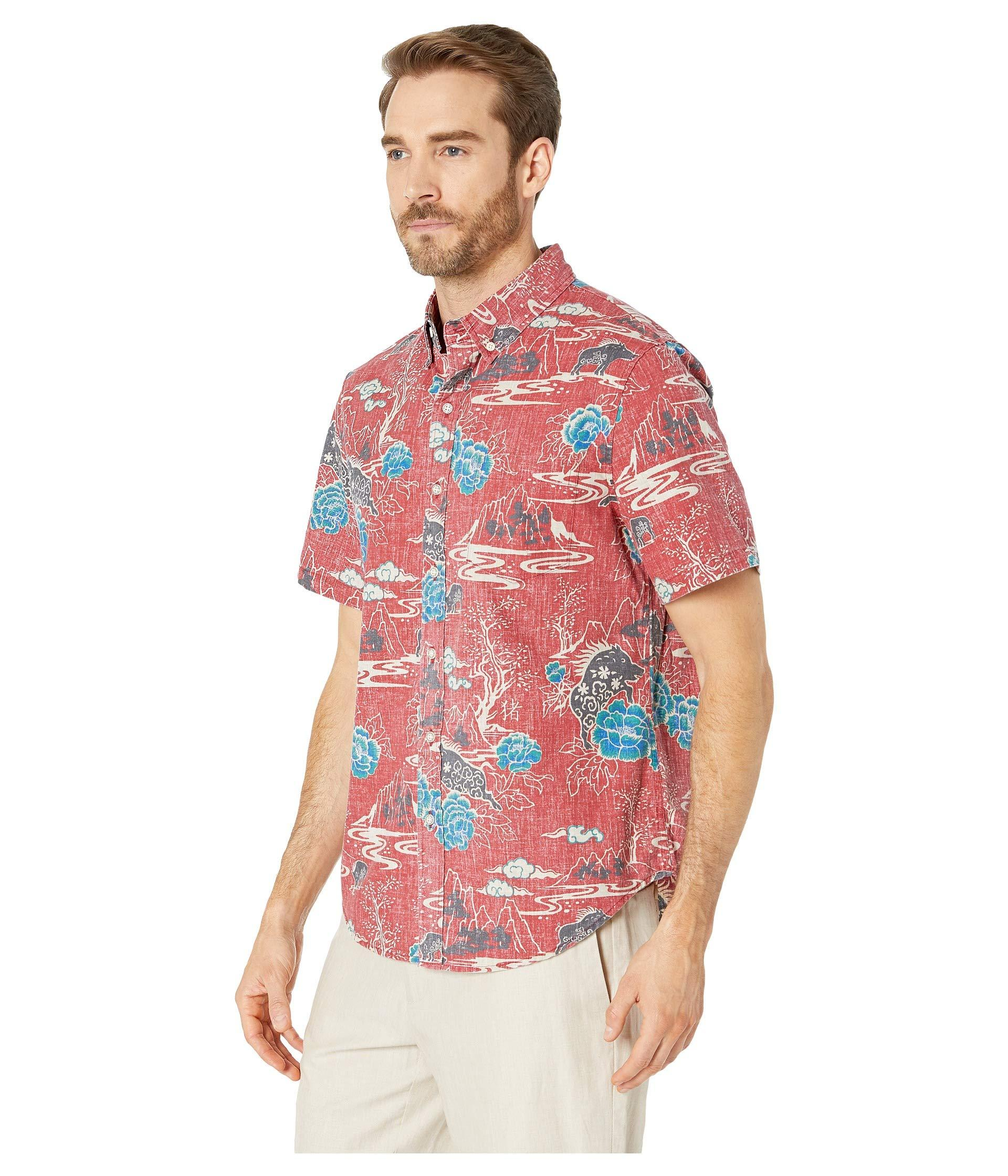 386450c6 Lyst - Reyn Spooner Year Of The Boar Tailored Fit Hawaiian Shirt (garnet)  Men's Short Sleeve Button Up in Red for Men