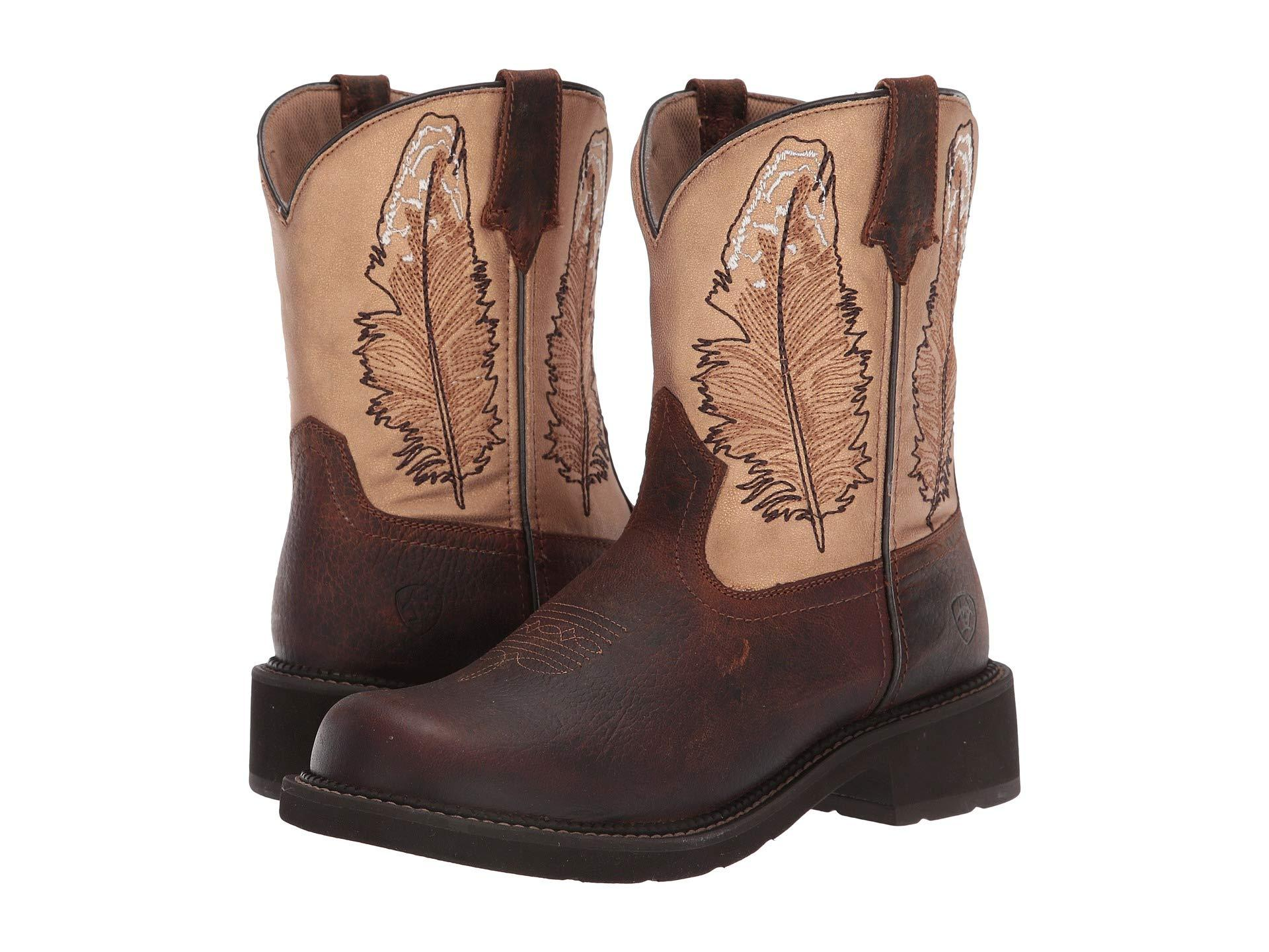 94abb336fe6 Women's Fatbaby Heritage (distressed Brown/shimmer Turquoise) Cowboy Boots