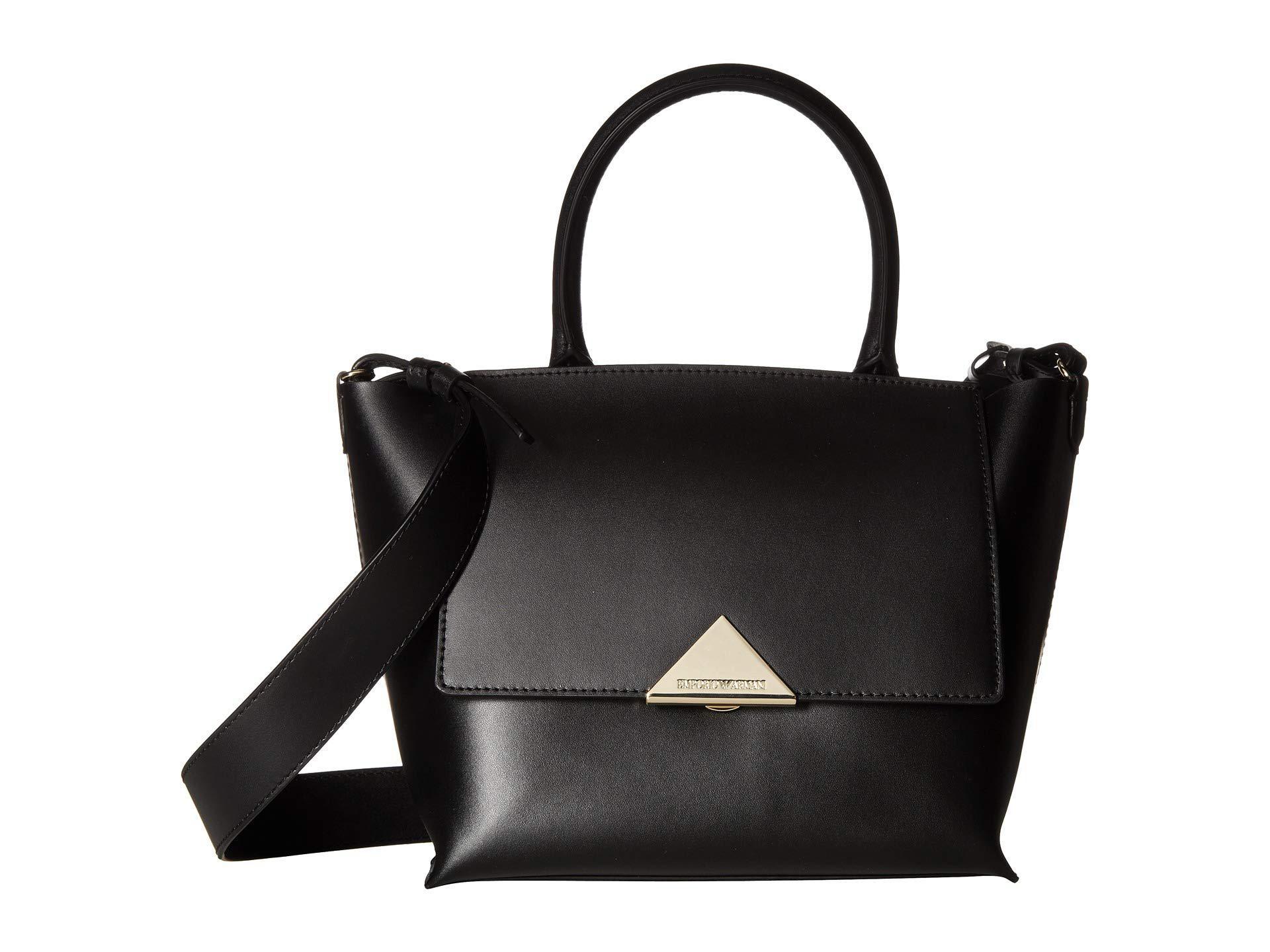 8e255563cd3c Lyst - Emporio Armani Faux Leather Handbag (black) Handbags in Black