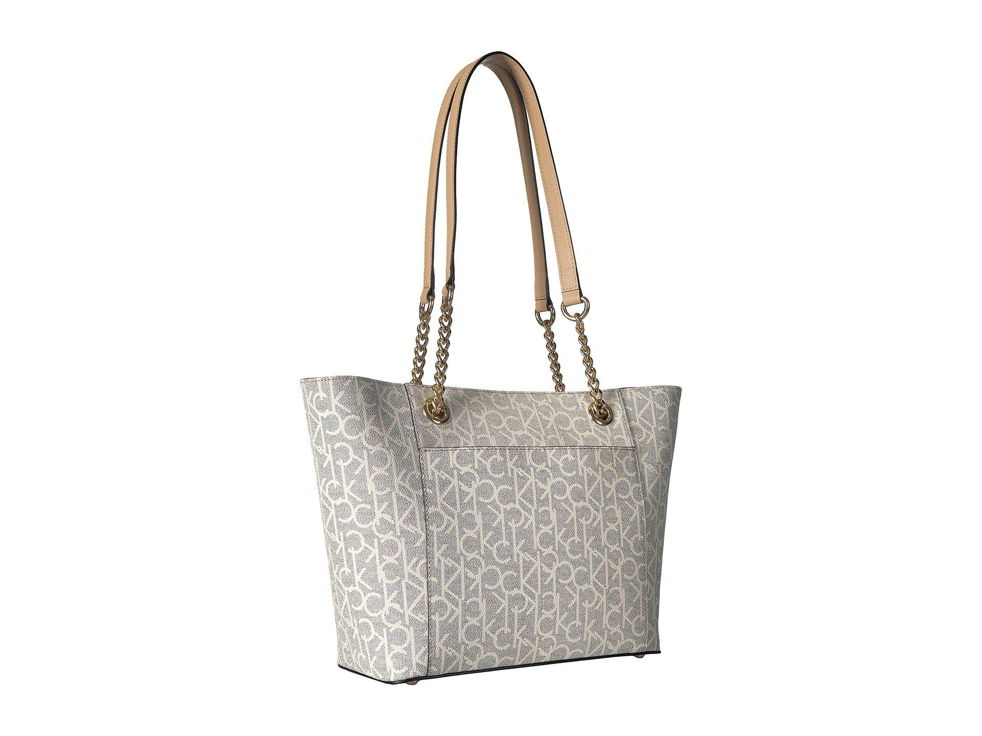 aefad06bec Calvin Klein - Multicolor Monogram East/west Tote (cream) Tote Handbags -  Lyst. View fullscreen