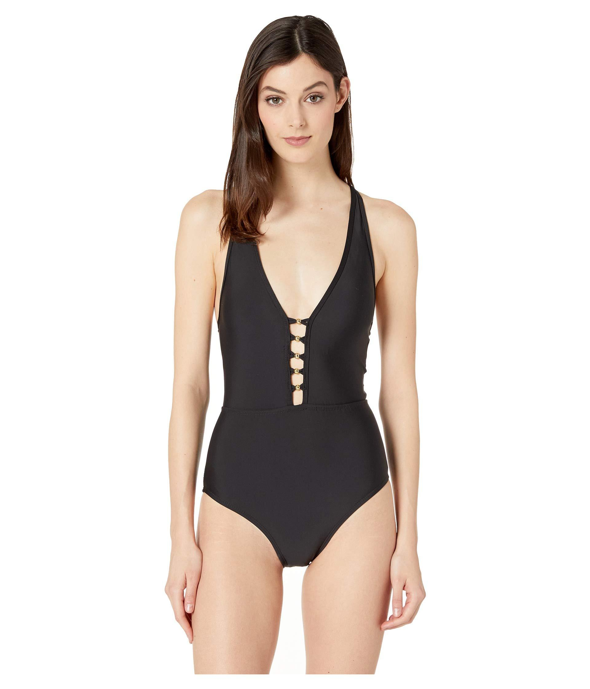 a2c77f19c1dd4 Lyst - Athena Solids V-neck One-piece (black) Women s Swimsuits One ...