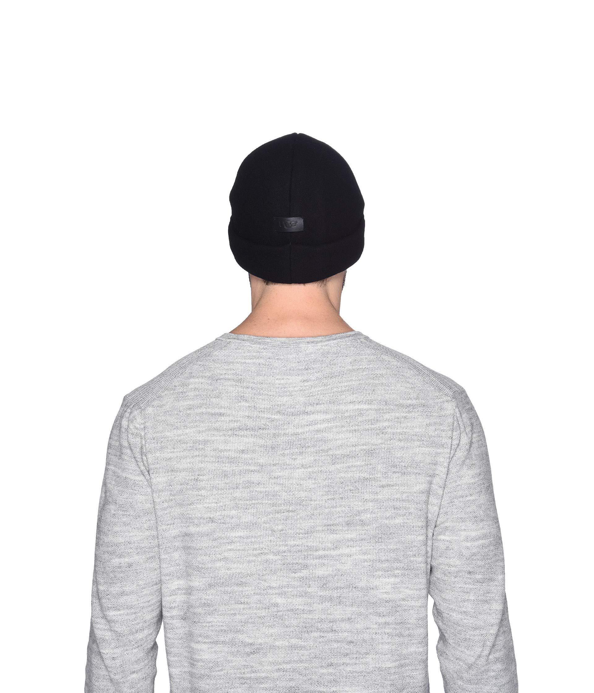 b7cf6f75b Men's Black Fabric Cuff Hat (charcoal) Beanies