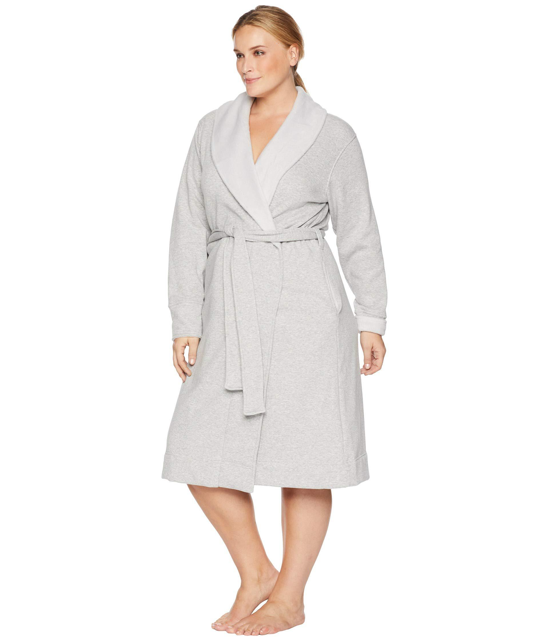 03188df2b8 Lyst - UGG Plus Size Duffield Ii Robe (black Bear Heather) Women s Robe in  Gray