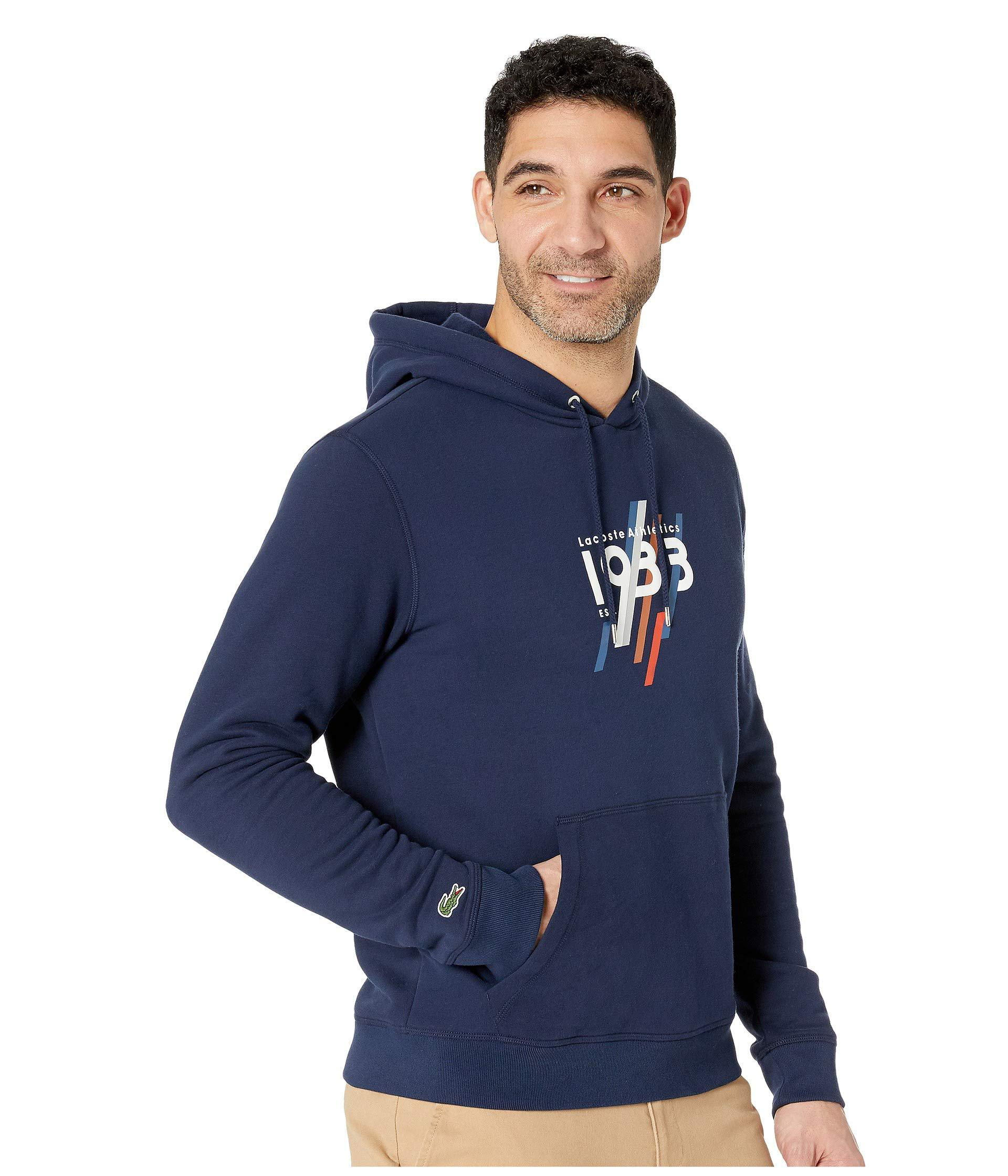 Cromoncent Men Solid Color Hooded Pullover Pocket Fashion Sweatshirts Jacket