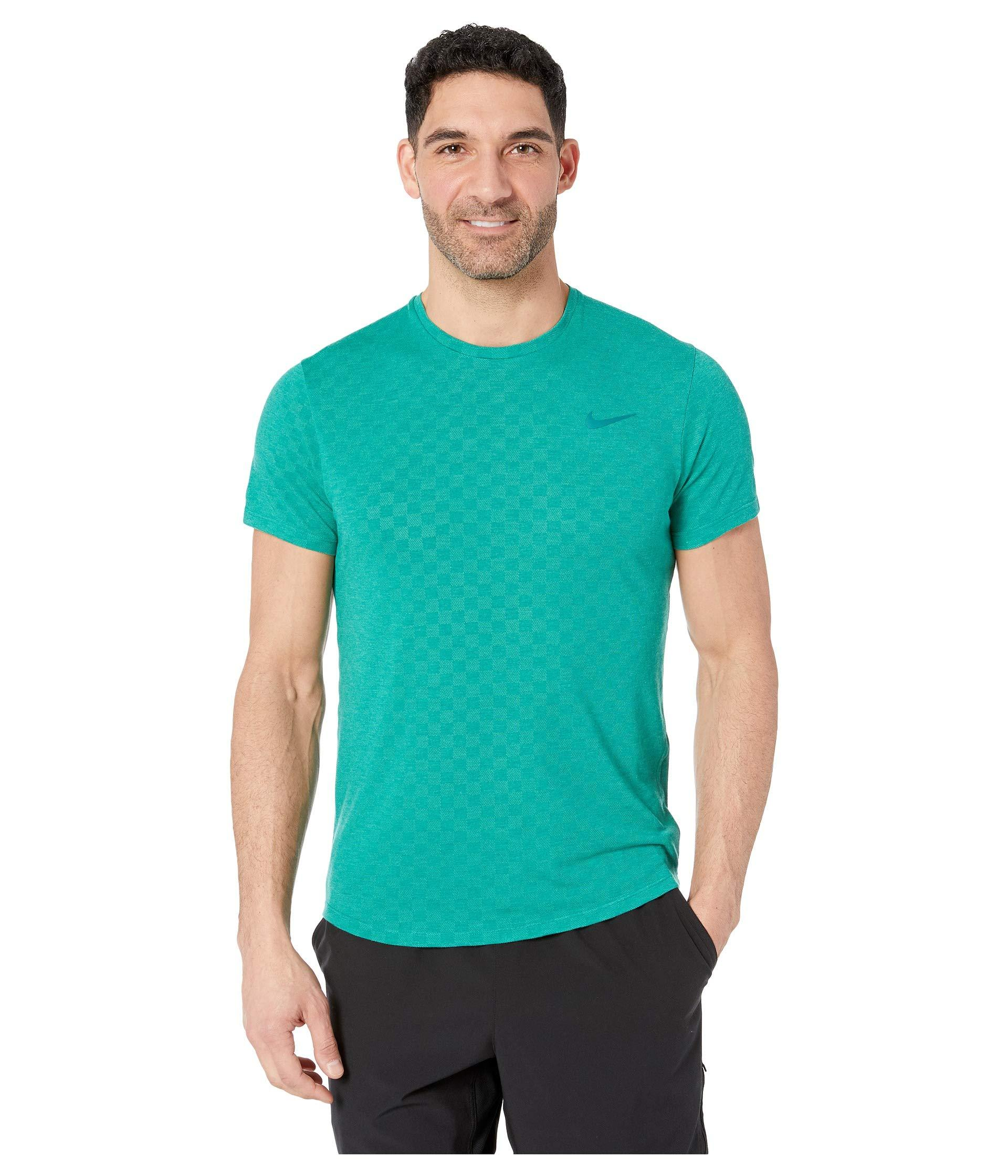 c61b2233269b Lyst - Nike Court Challenger Top Short Sleeve (black black) Men s ...