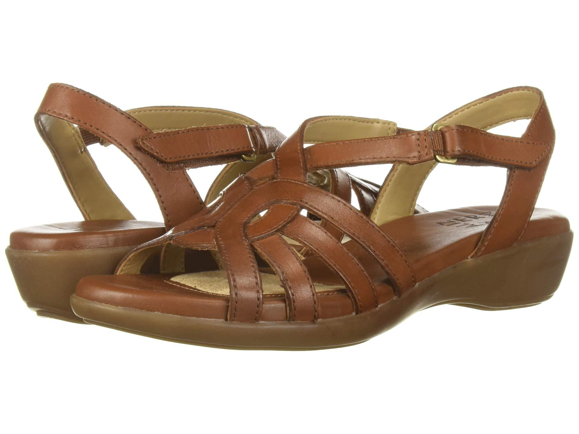 140fba01d09 Lyst - Naturalizer Nalani (black Leather) Women s Sandals in Brown