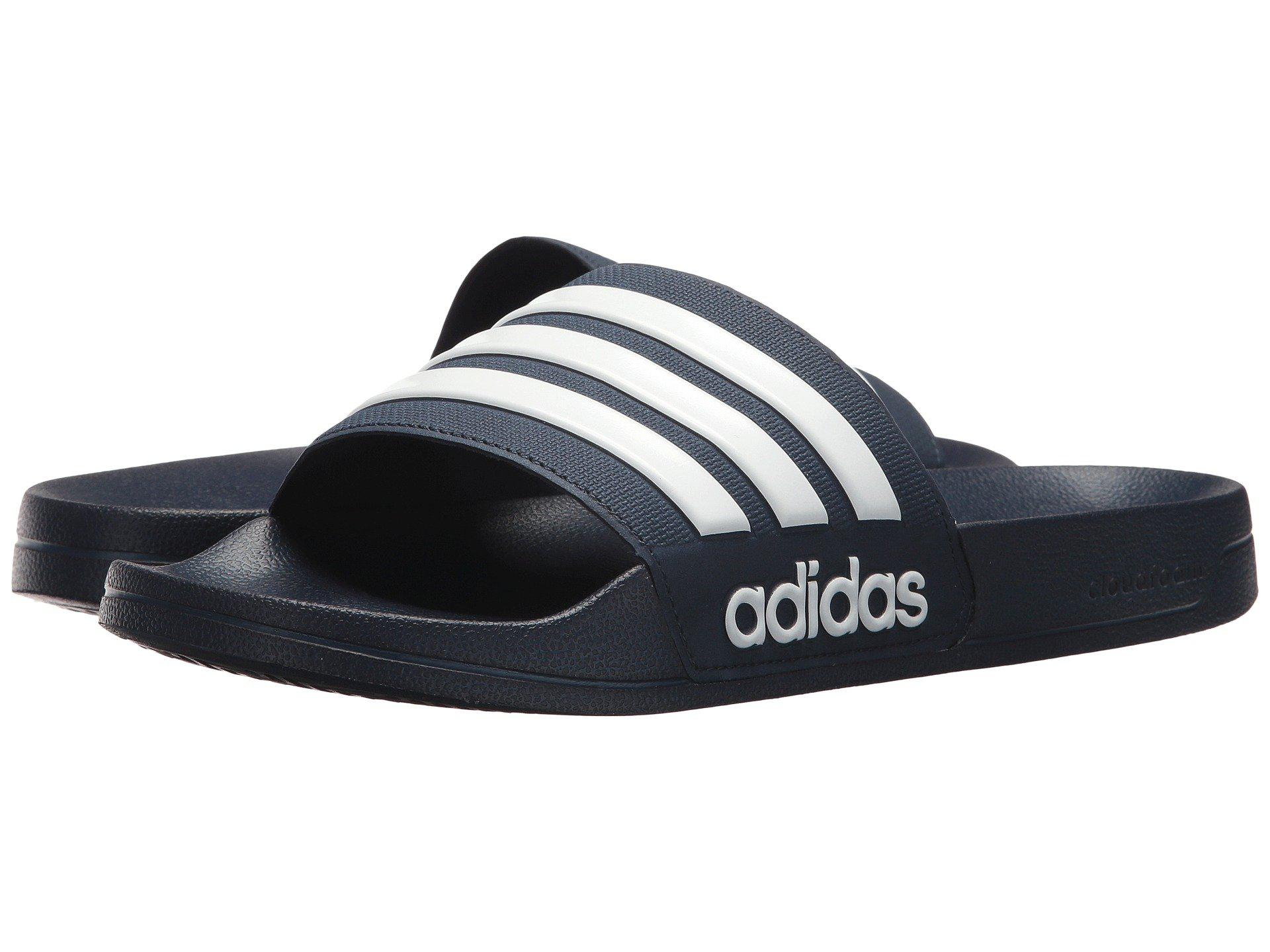 size 40 04058 8afb0 Lyst - Adidas Adilette Cf (navy white navy) Men s Slide Shoes in ...