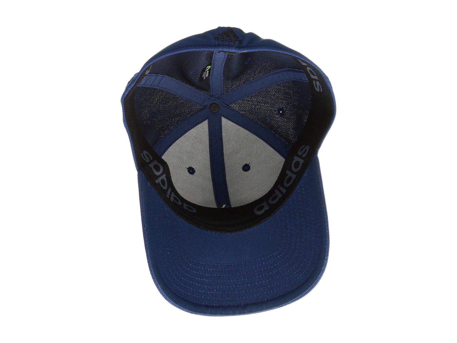 Lyst - Adidas Rucker Stretch Fit (onix) Caps in Blue for Men 805f1dd159f8