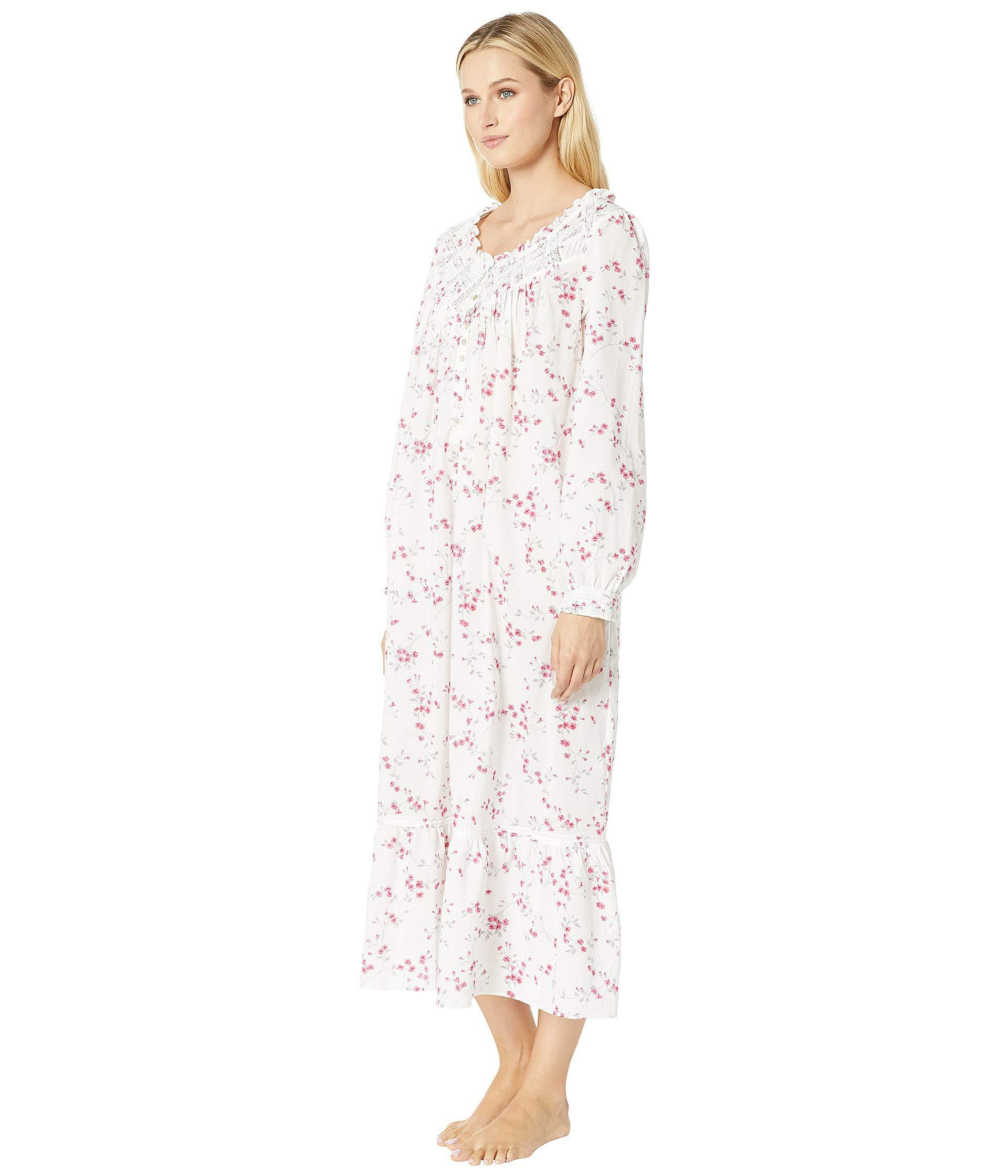 563a291646 Lyst - Eileen West Ballet Woven Floral Nightgown (white Ground Multi Floral)  Women s Pajama in White