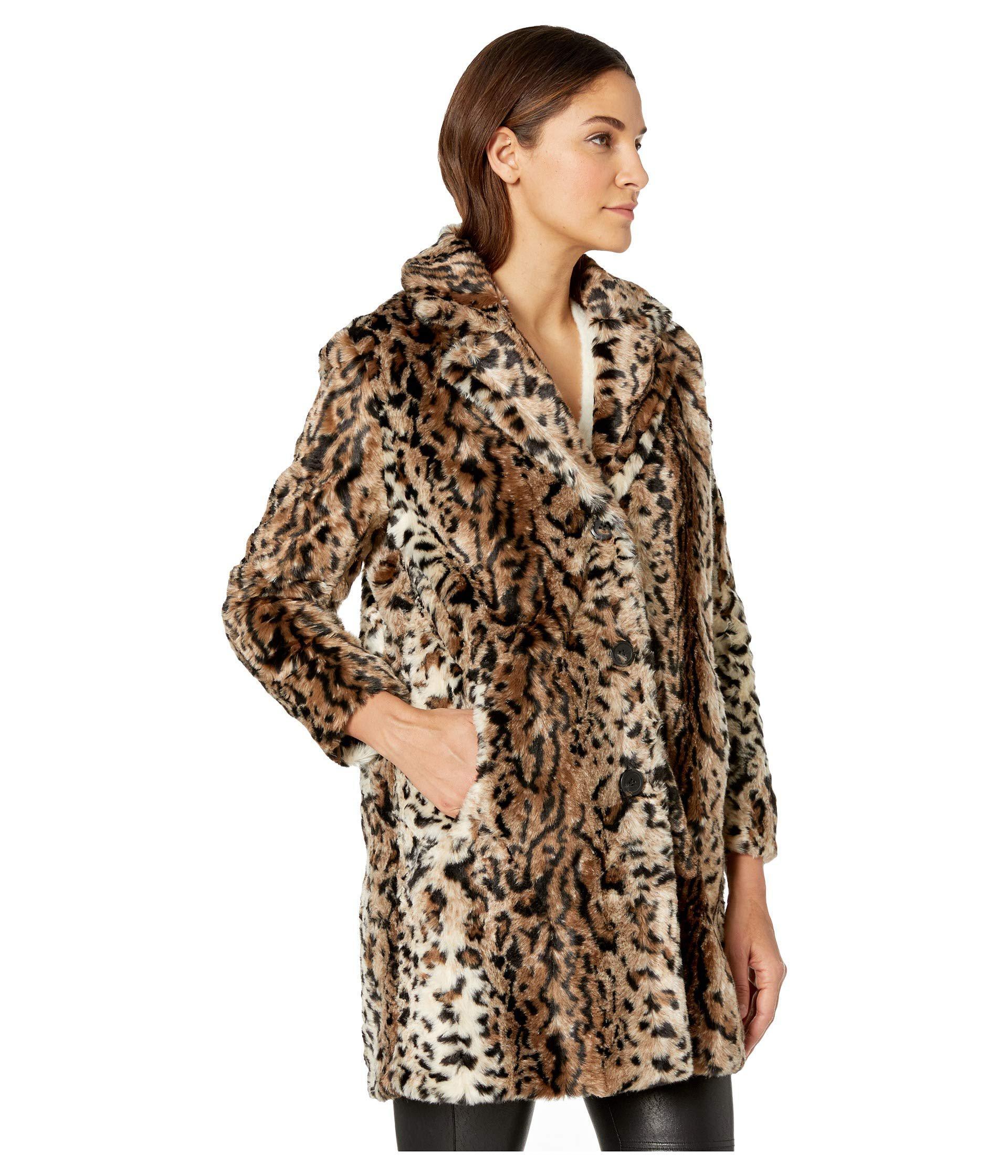 6d1ba1adac22b BB Dakota - Bradshaw Leopard Faux Fur Coat (brown) Women s Coat - Lyst.  View fullscreen