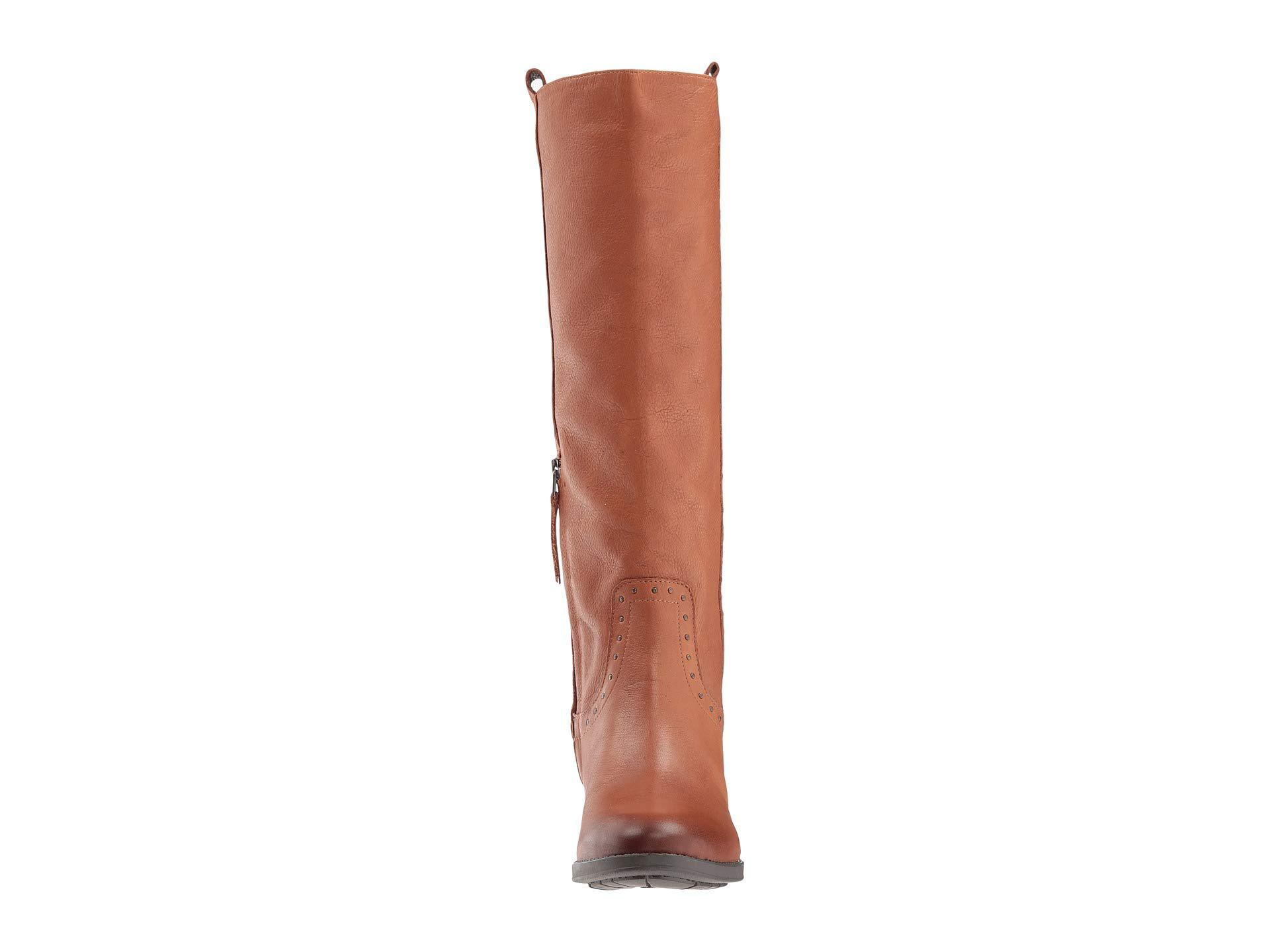 3d0494723848 Lyst - Sam Edelman Prina Wide Calf Leather Tall Boot (whiskey Neymar ...