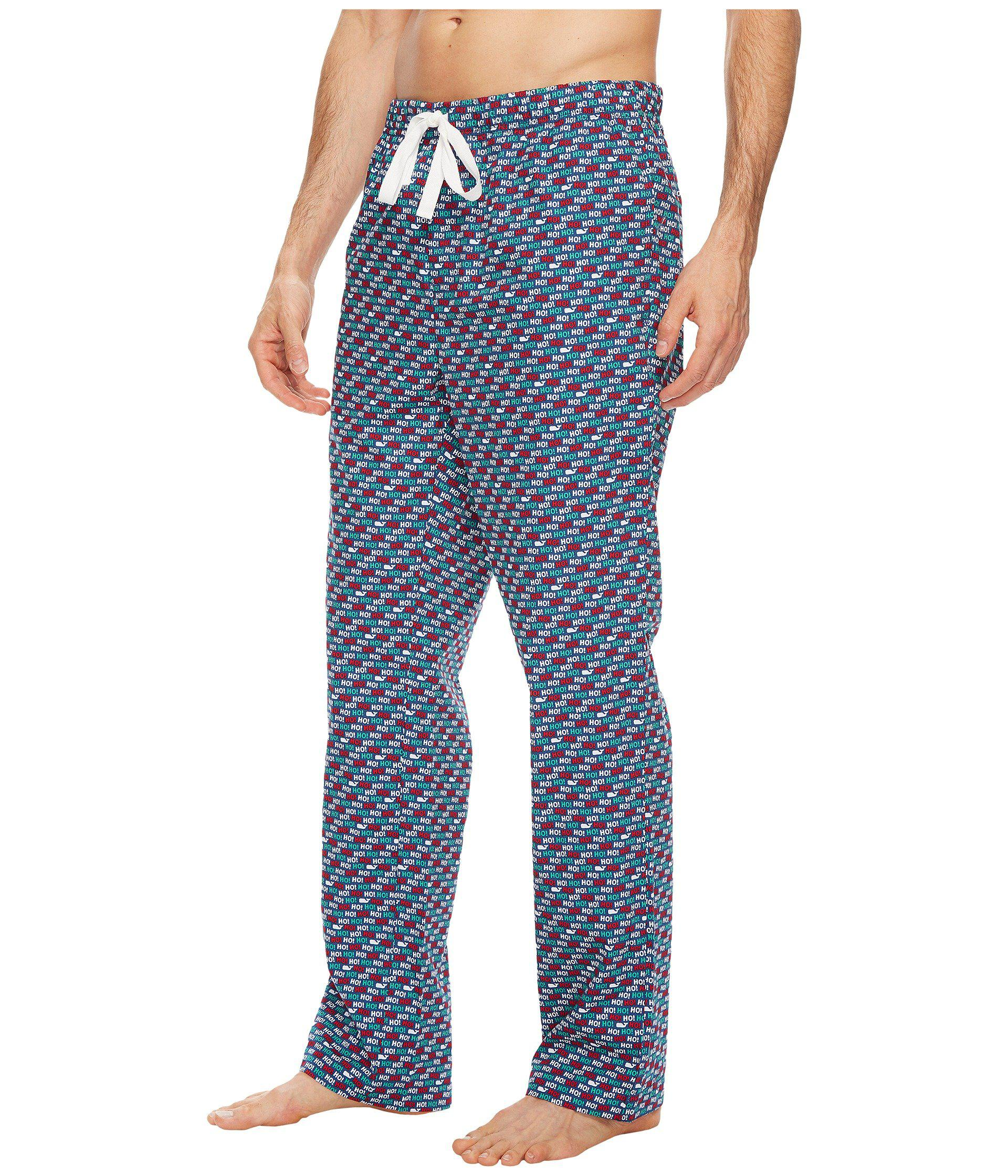 Vineyard Vines Cotton Lounge Pants Palmetto In Blue For
