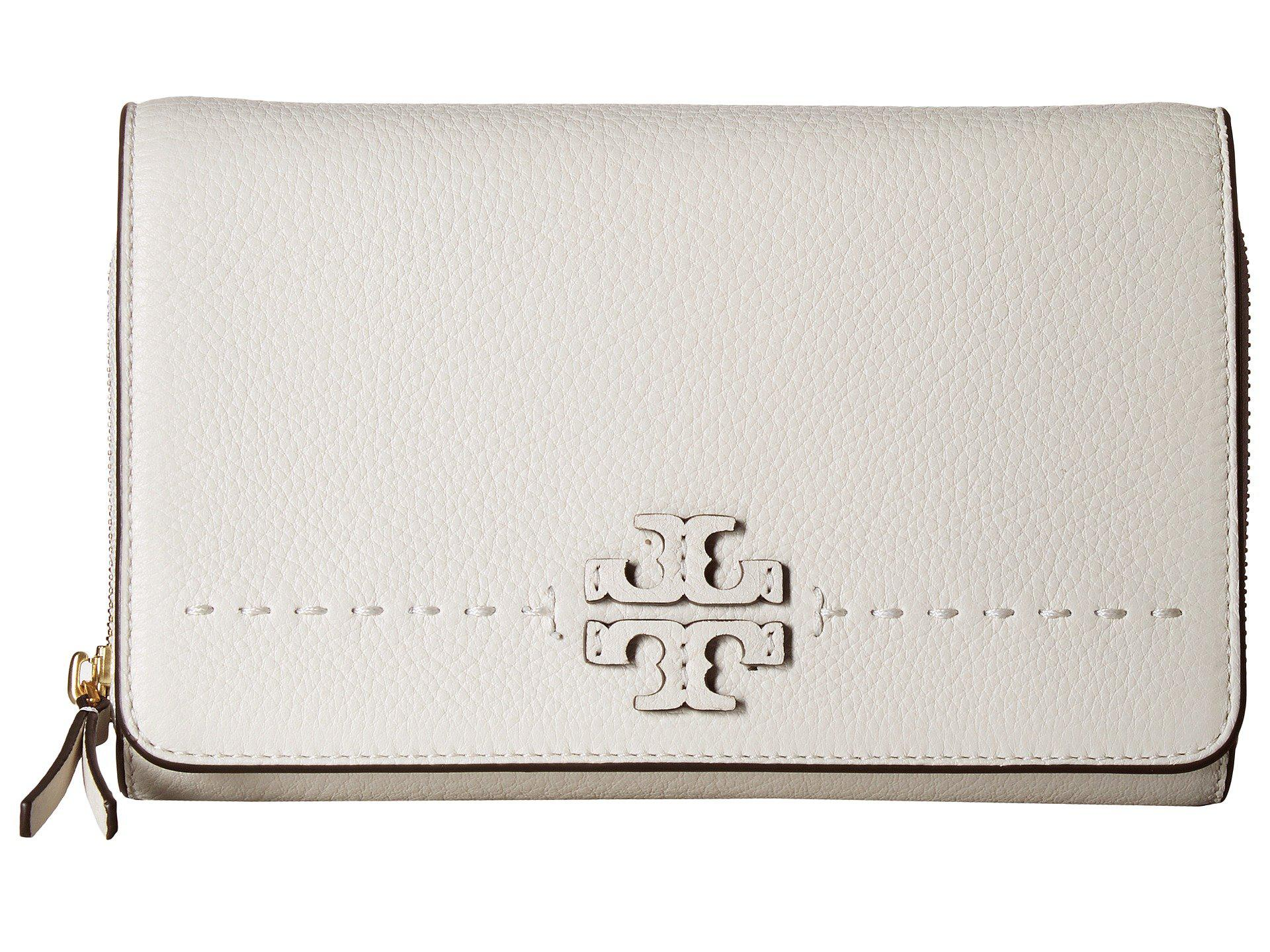 feebcb0d6580d0 Lyst - Tory Burch Mcgraw Flat Wallet Crossbody in White
