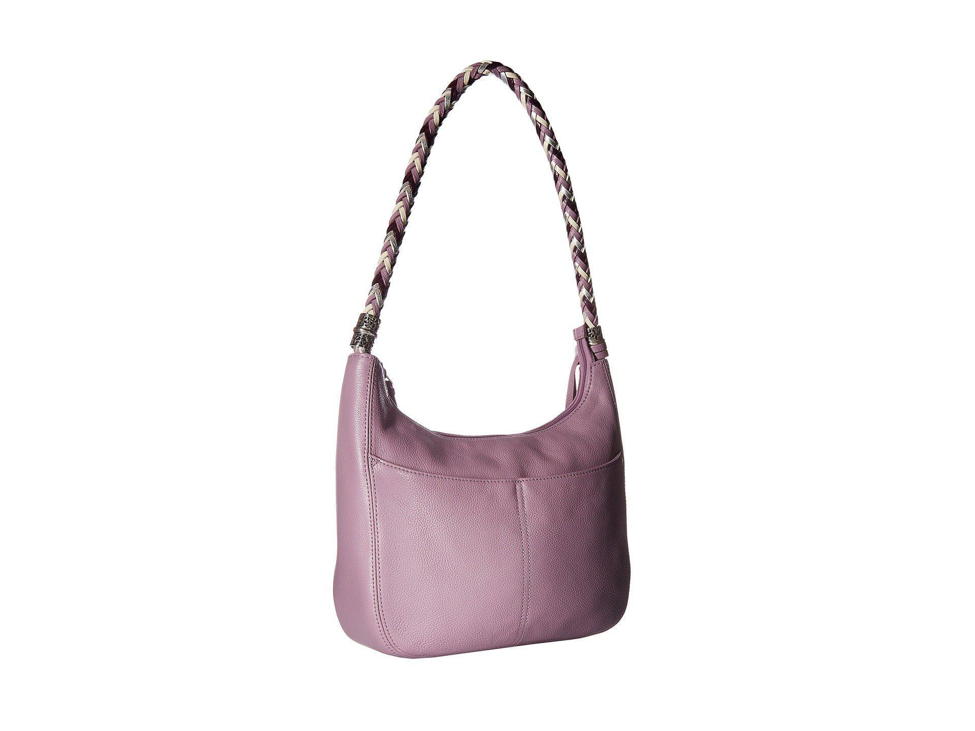 17e3288110 Brighton Barbados Ziptop Hobo in Purple - Lyst