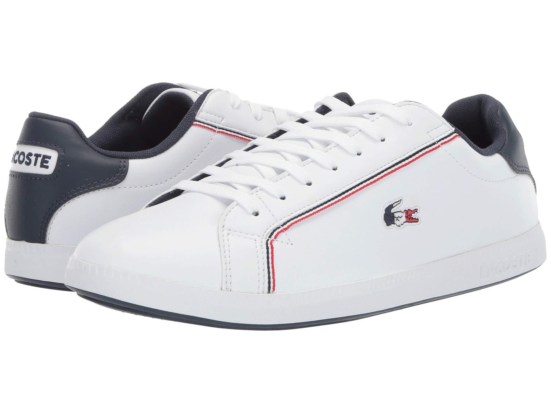 e793b7701cf Lyst - Lacoste Graduate 119 3 Sma (white navy red) Men s Shoes in ...