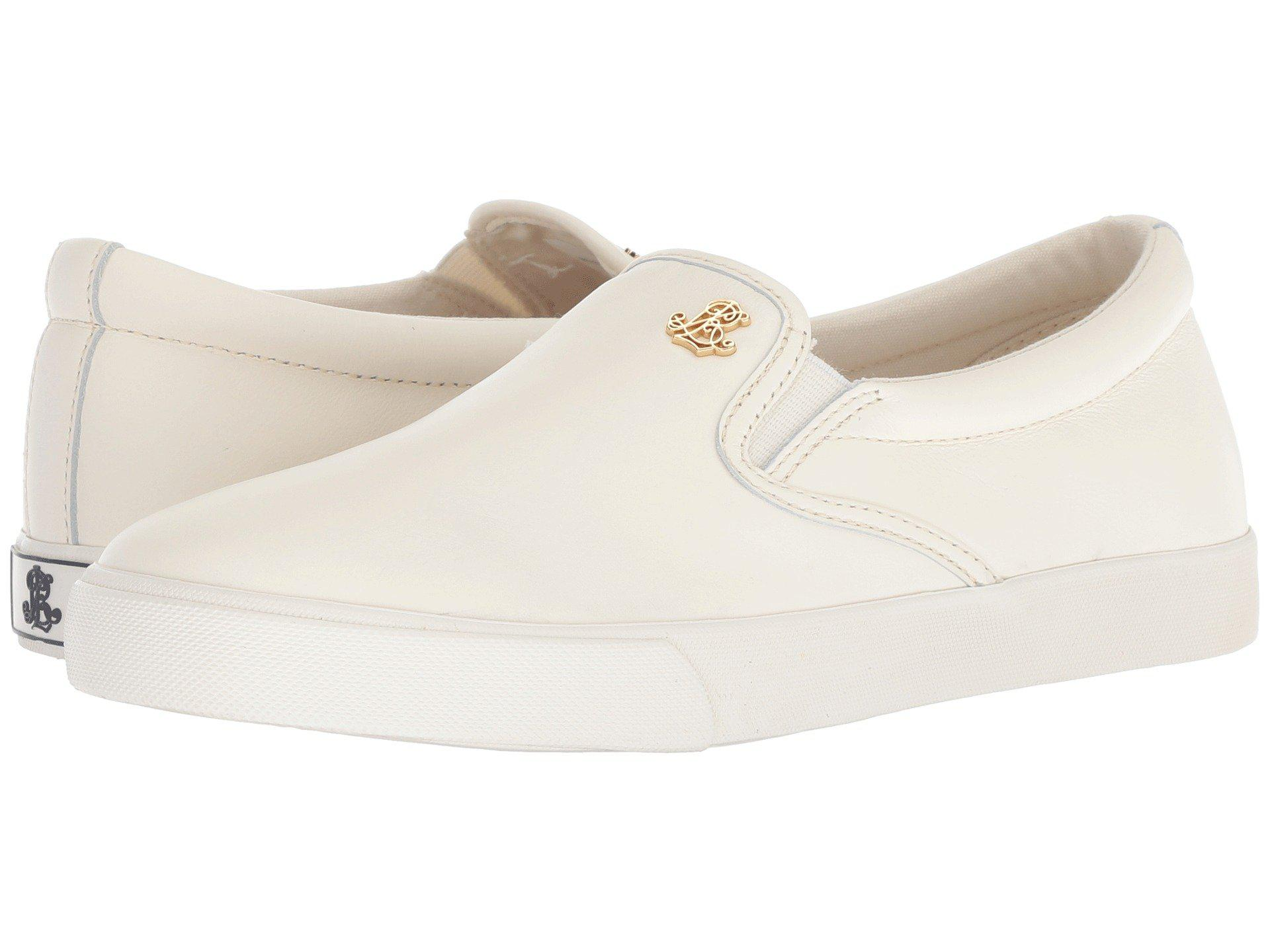 ebc5fa745e Lauren by Ralph Lauren Natural Ria (artist Cream Super Soft Leather)  Women's Shoes