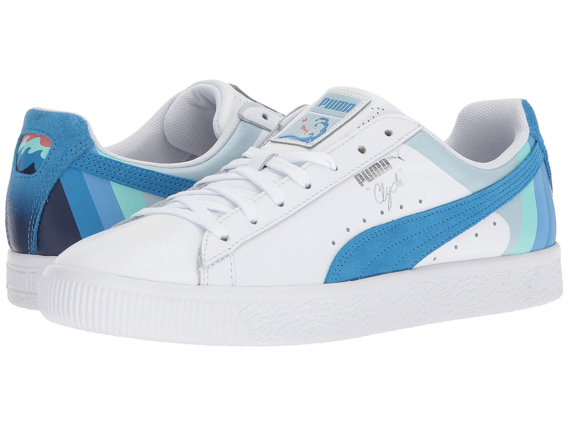PUMA Leather Clyde - Pink Dolphin in Blue for Men - Lyst