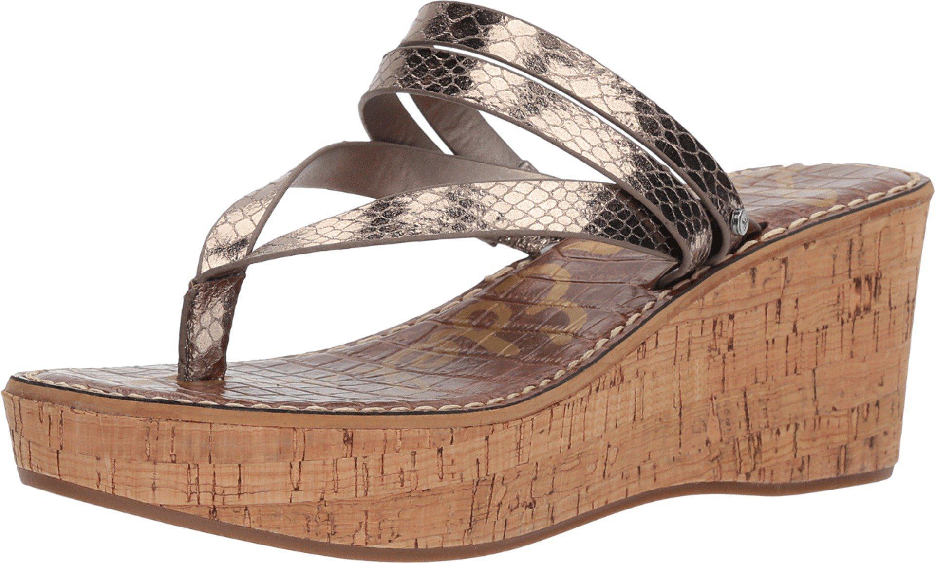 Sam Edelman Rasha Nubuck Thong Wedge Sandals 8RPYRVmX6