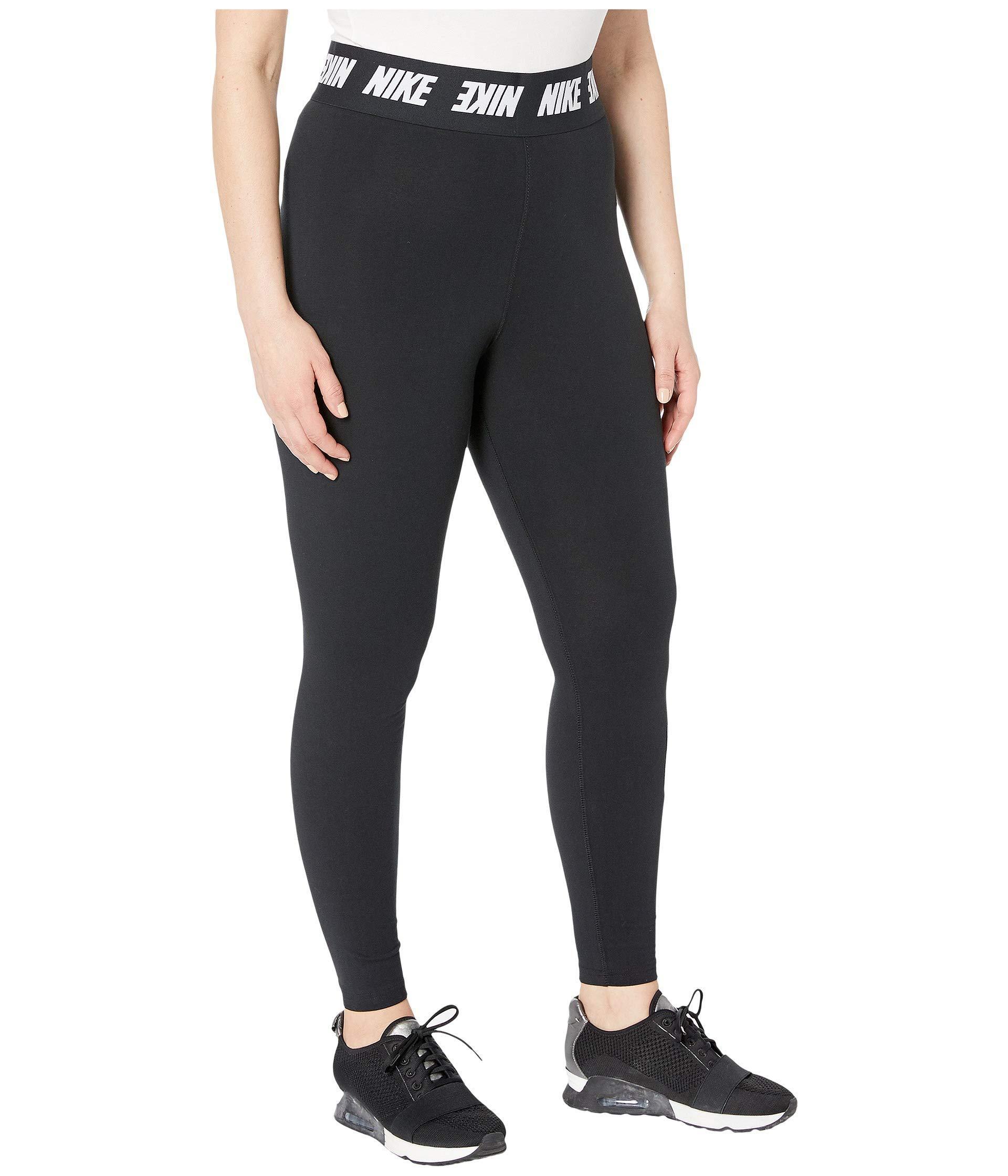 0ad72326 Nike Plus Size Sportswear Leggings Club High-waist (black/white) Women's  Casual Pants