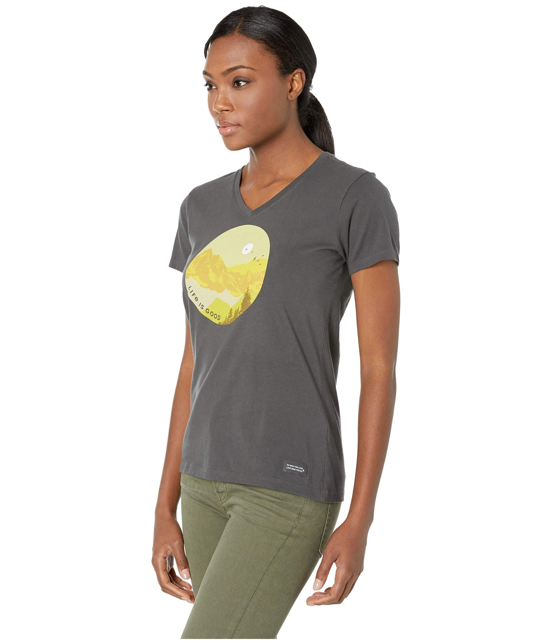 Life is good Womens crusher tee Beautiful Dragonfly The Life