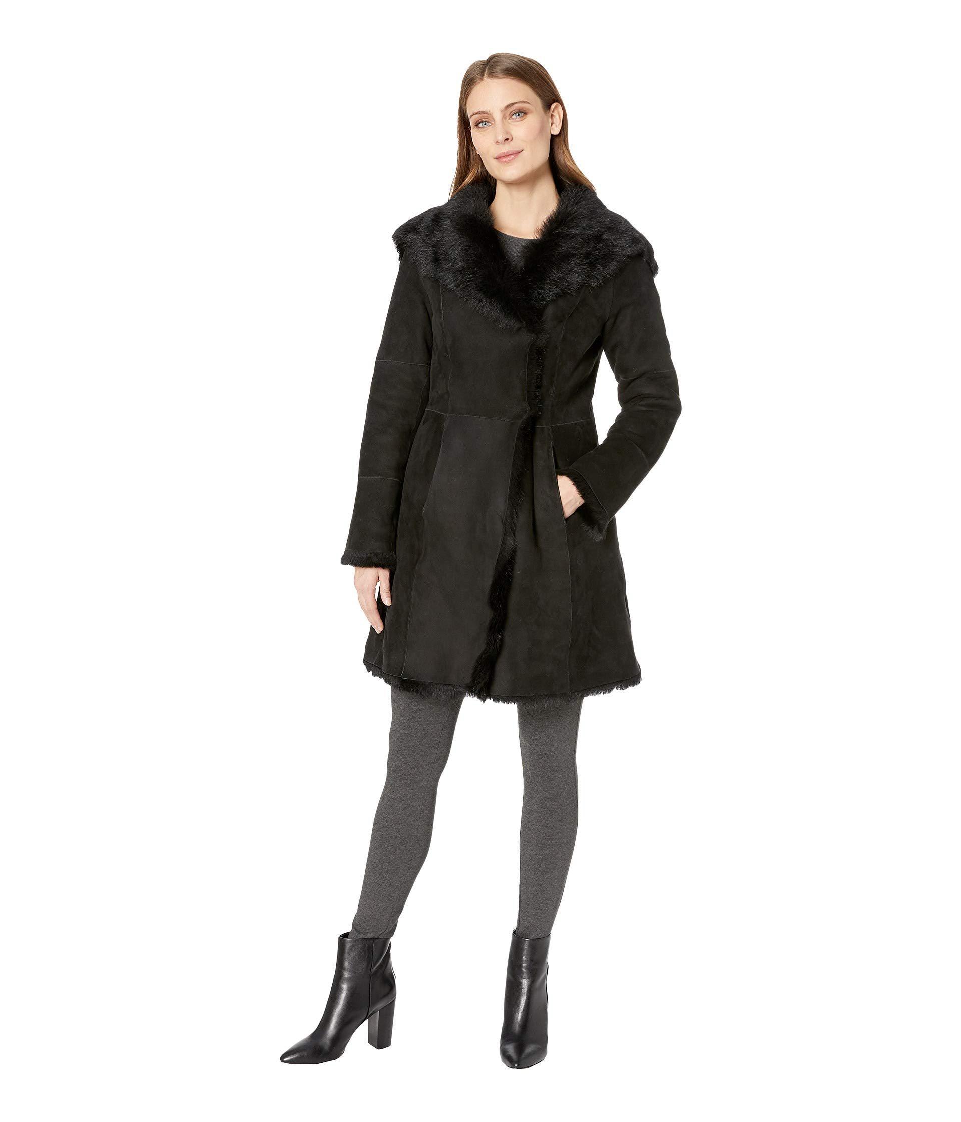 8e51d9411b Lyst - UGG Vanesa Toscana Shearling Coat (chestnut) Women s Coat in ...
